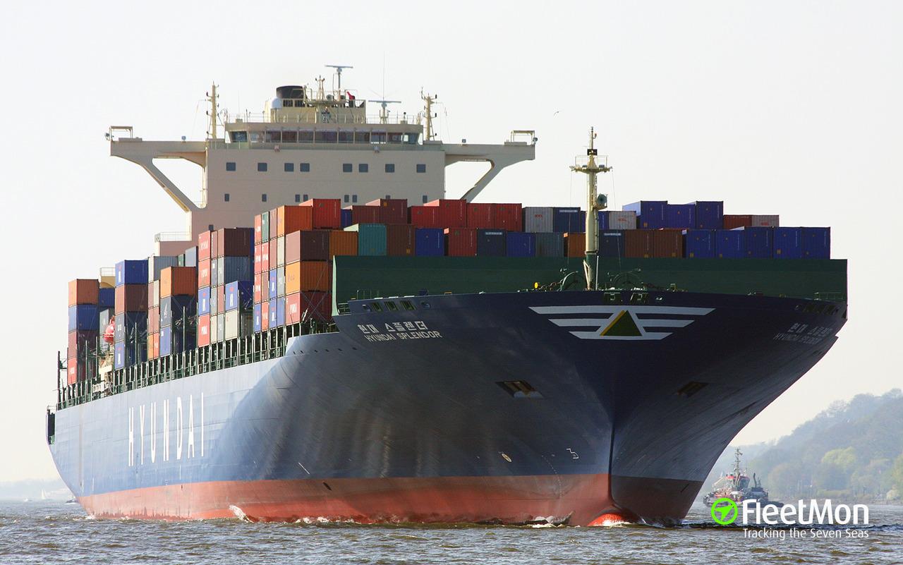 Hyundai Splendor Container Ship Imo 9393321