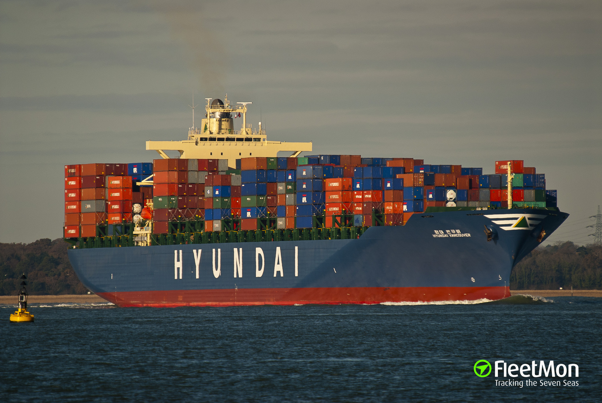 Container ship collision, Incheon