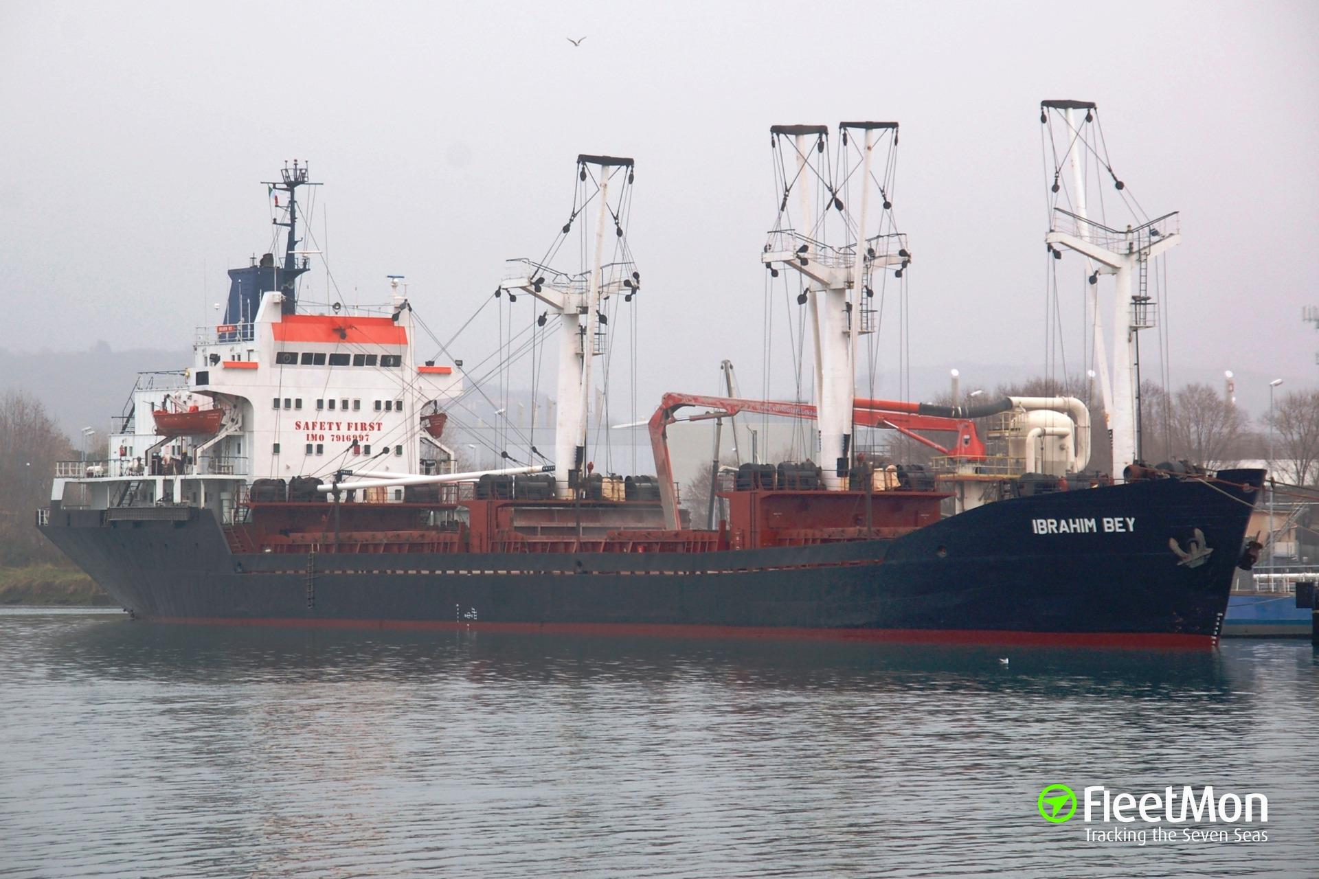 General cargo vessel IBRAHIM BEY troubled in Dardanelles