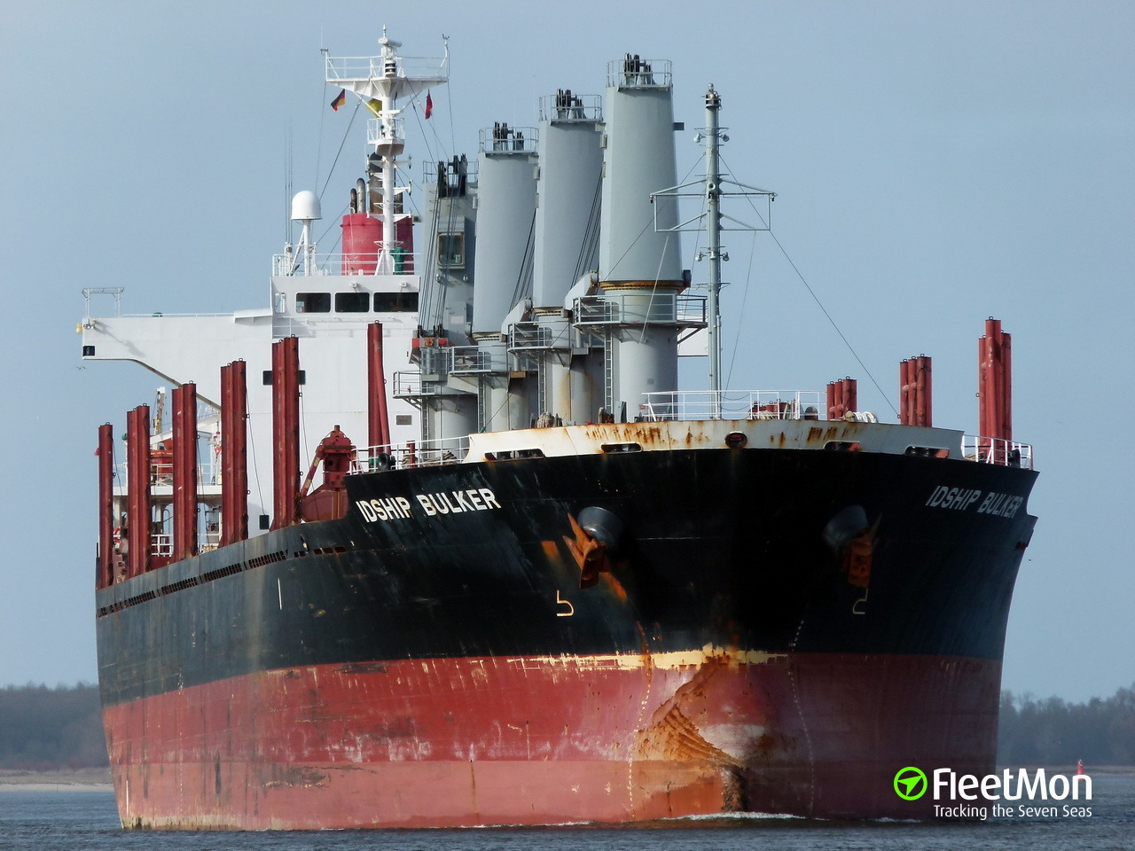 Danish bulk carrier aground