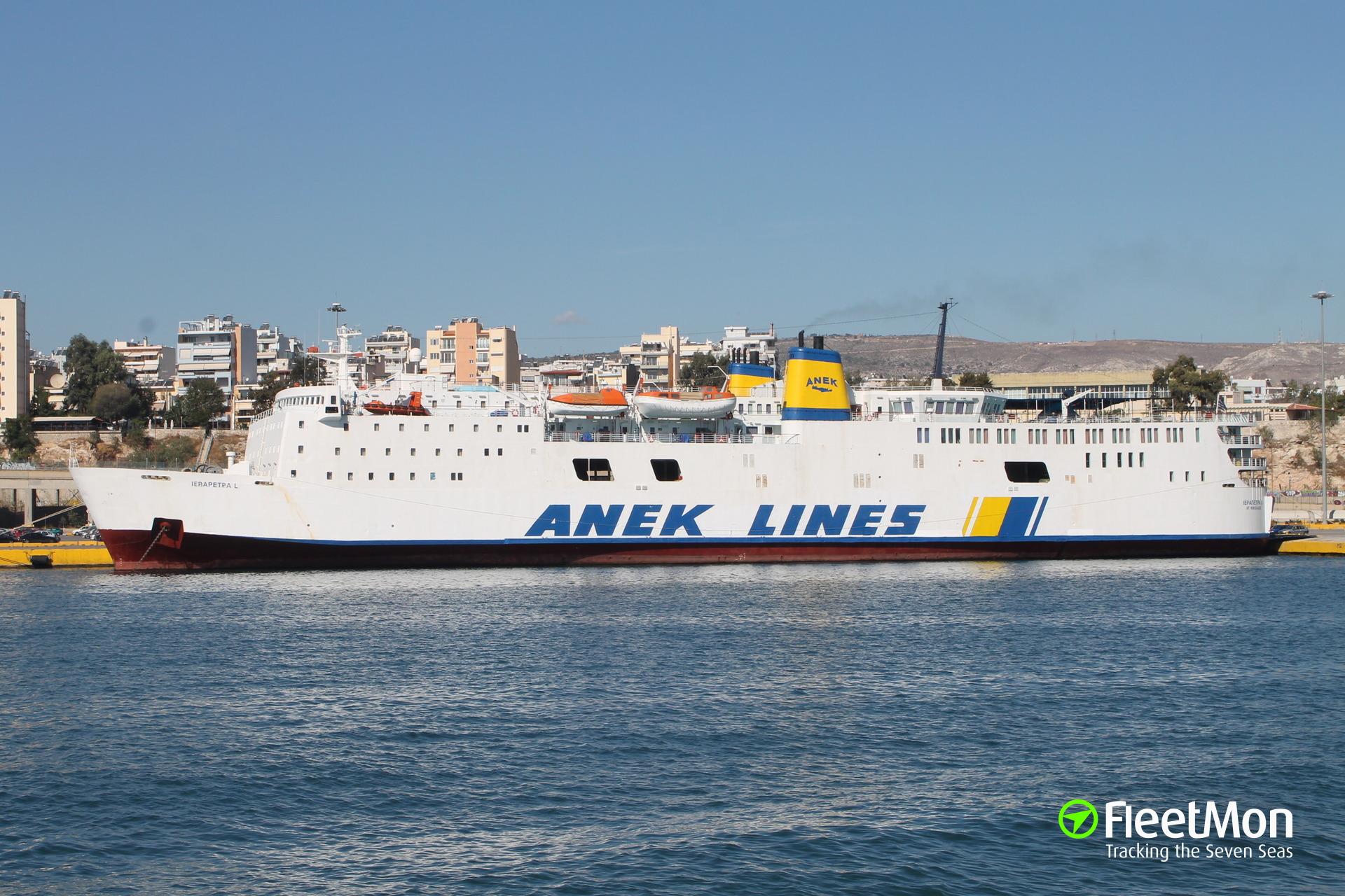 Ferry Ierapetra L fire