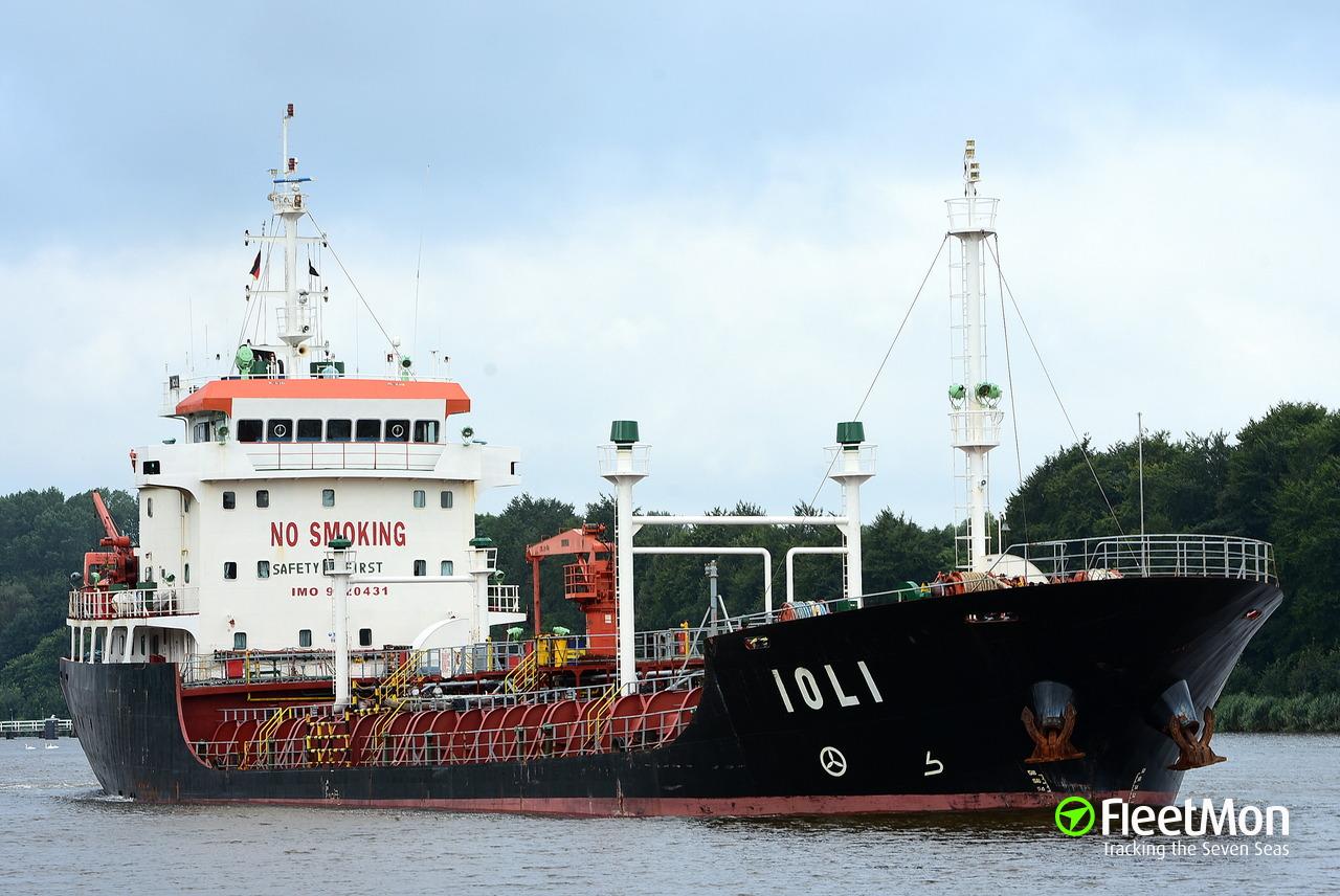 Vessel IOLI (Oil Products Tanker) IMO 9520431, MMSI 249591000