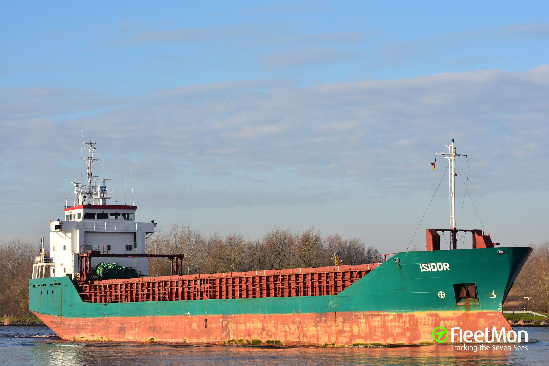 Freighter Isidor under repairs after pump failure, Kiel