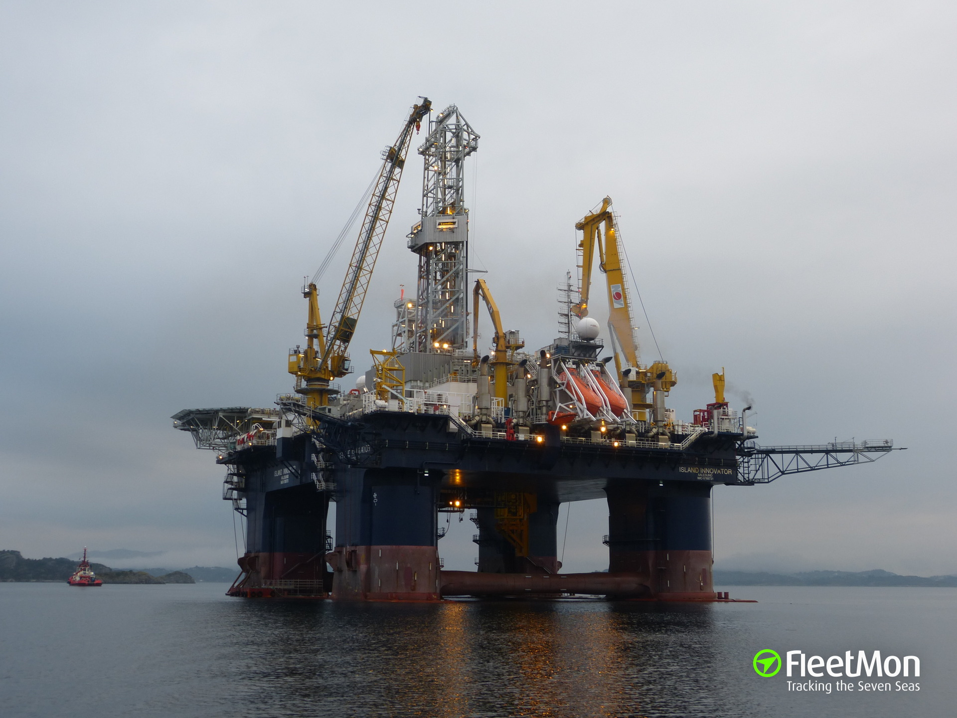 Oil rig Island Innovator in trouble, Norway