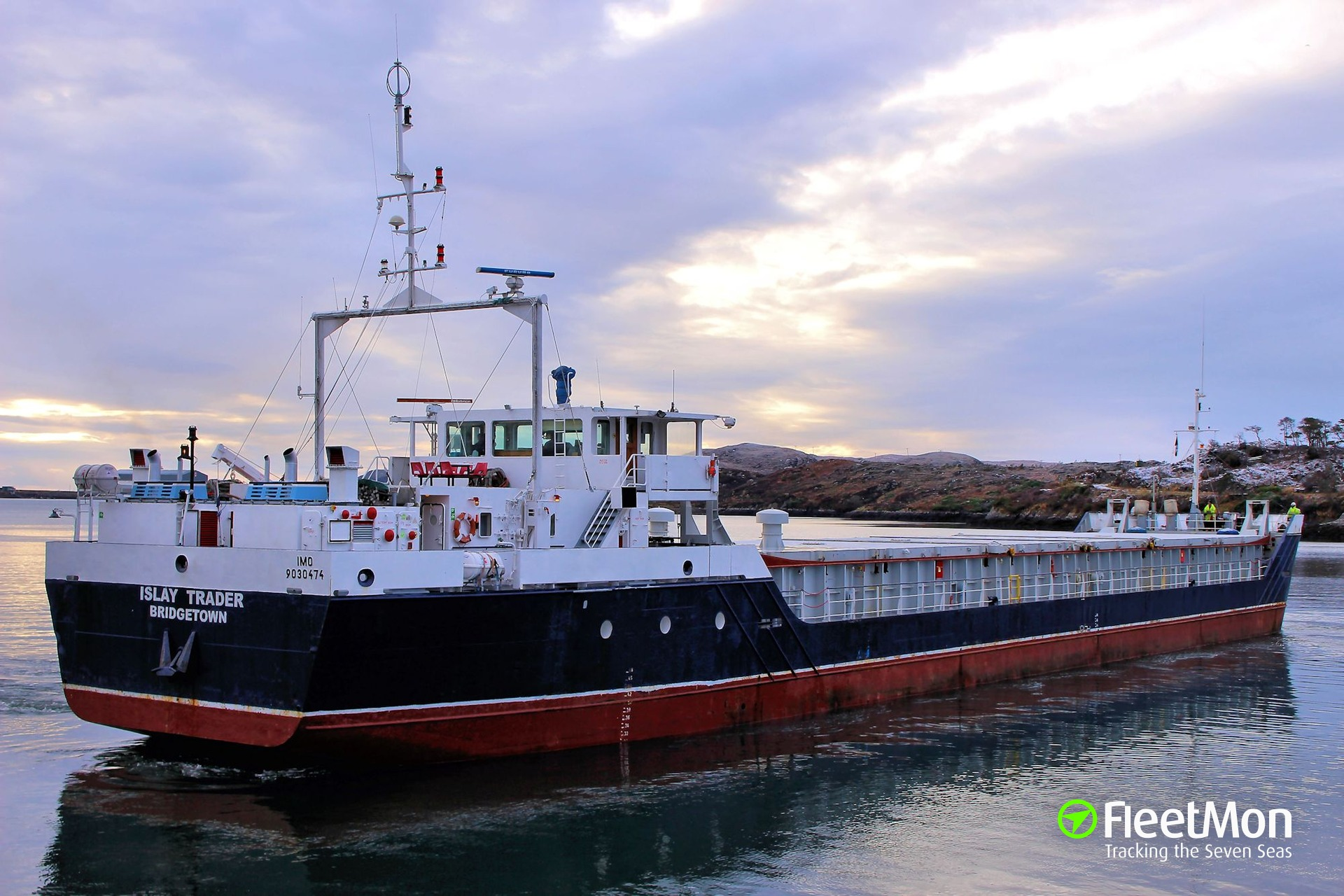 Islay Trader aground and refloated