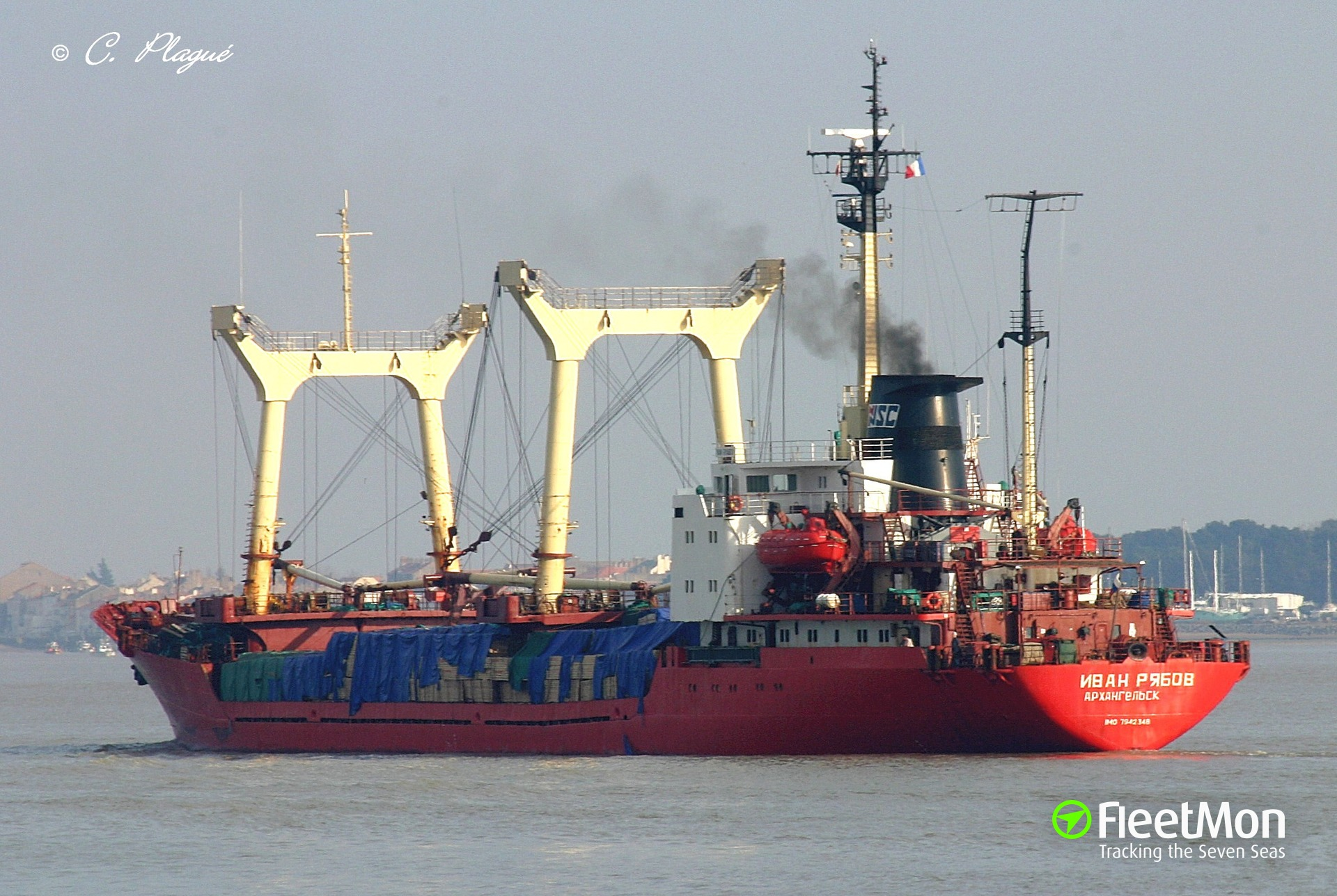 General cargo vessel Ivan Ryabov holed, Chukotka Sea, Arctic