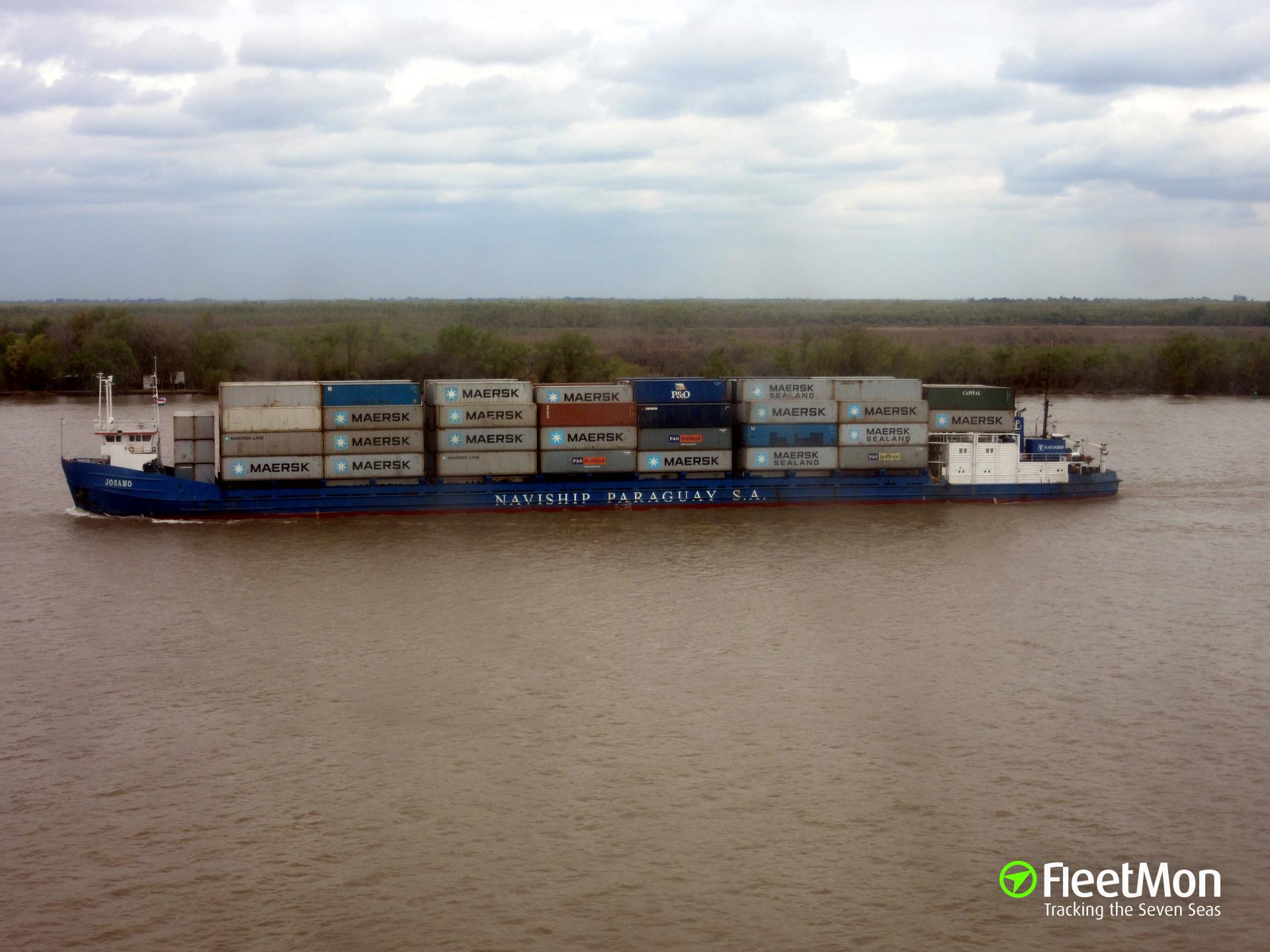 General cargo vessel Petrozavodsk still aground, Azov sea
