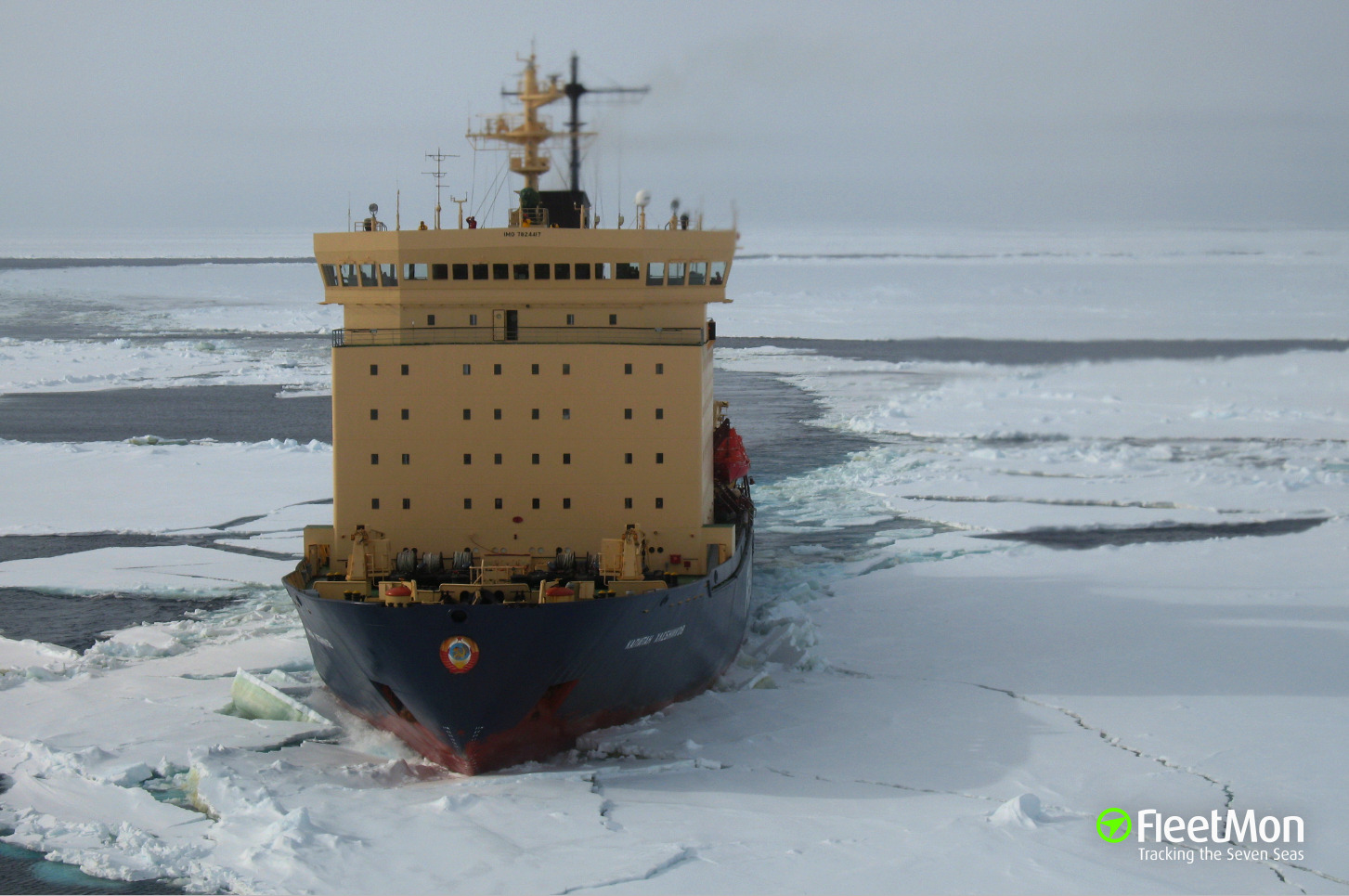 Passenger ship with 127 passengers freed from ice, reached port of destination