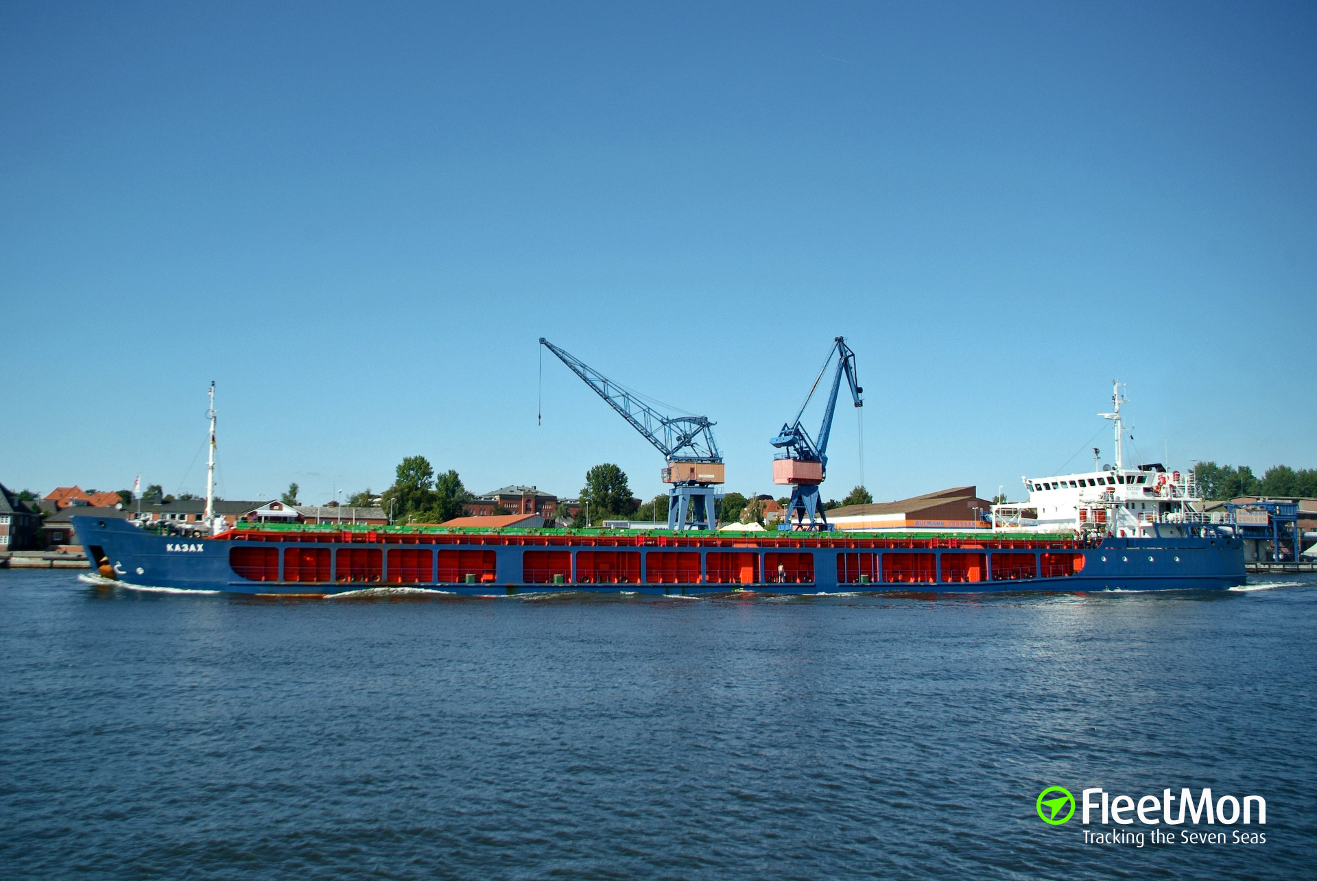 Freighters Dolphin-7 and Kazakh collided in Azov, Russia