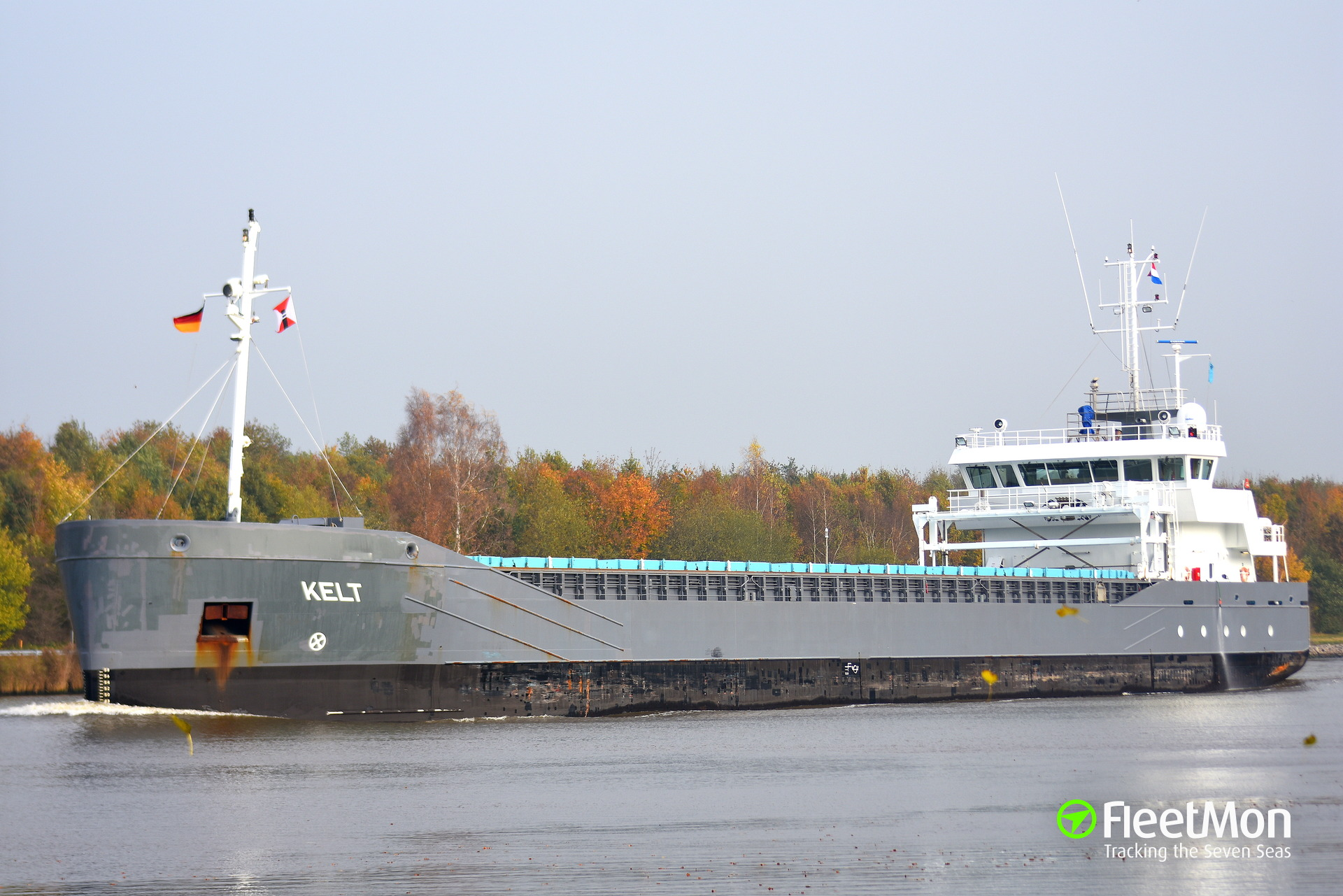 General cargo vessel Kelt towed to Delfzijl