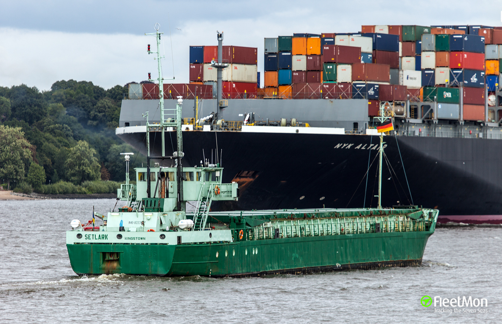 General cargo vessel Kerem S drifted aground