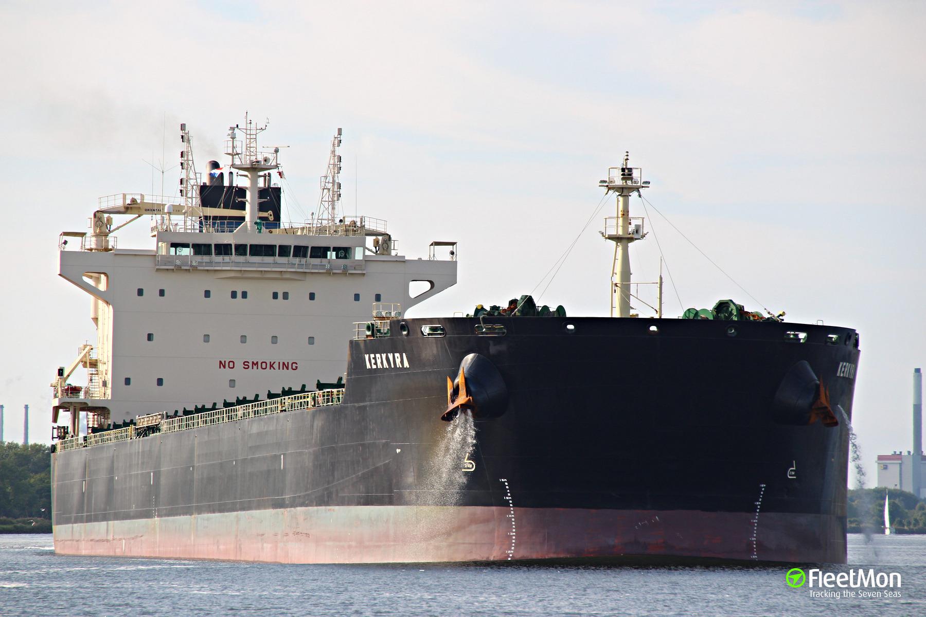 Bulk carrier Miraero Brave aground, Gulf of Finland