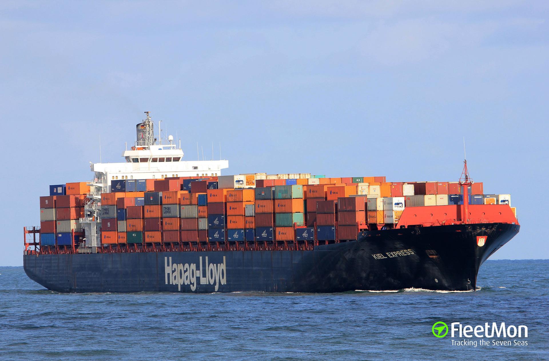 Boxship Kiel Express slammed into boxship Safmarine Makutu, Botany Bay, Australia