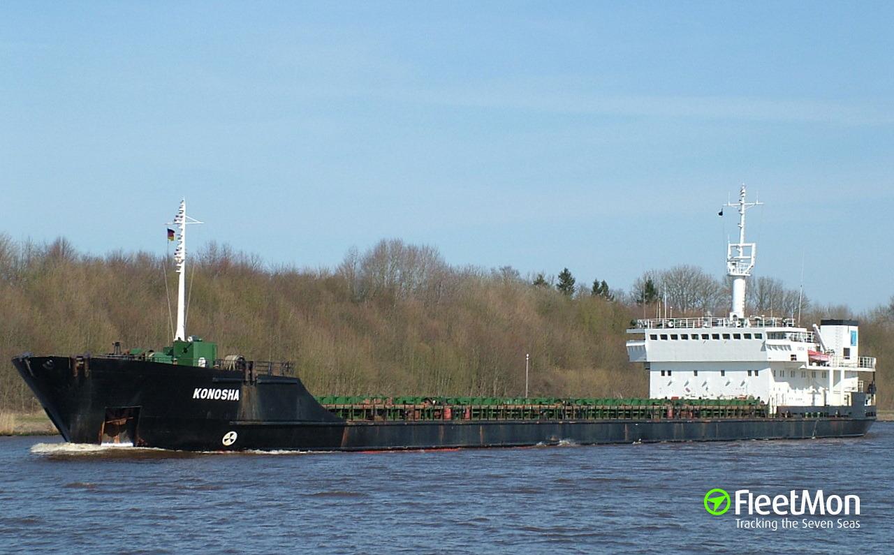 Freighter Konosha refloated, Kerch Strait