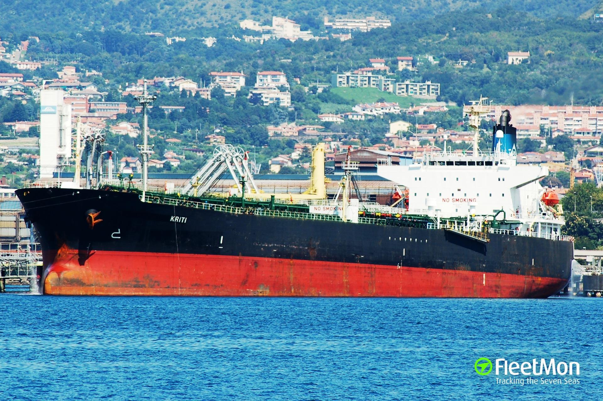 Tanker Kriti reported disabled
