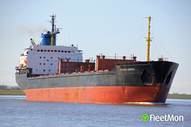 Russian bulk carrier aground, UK