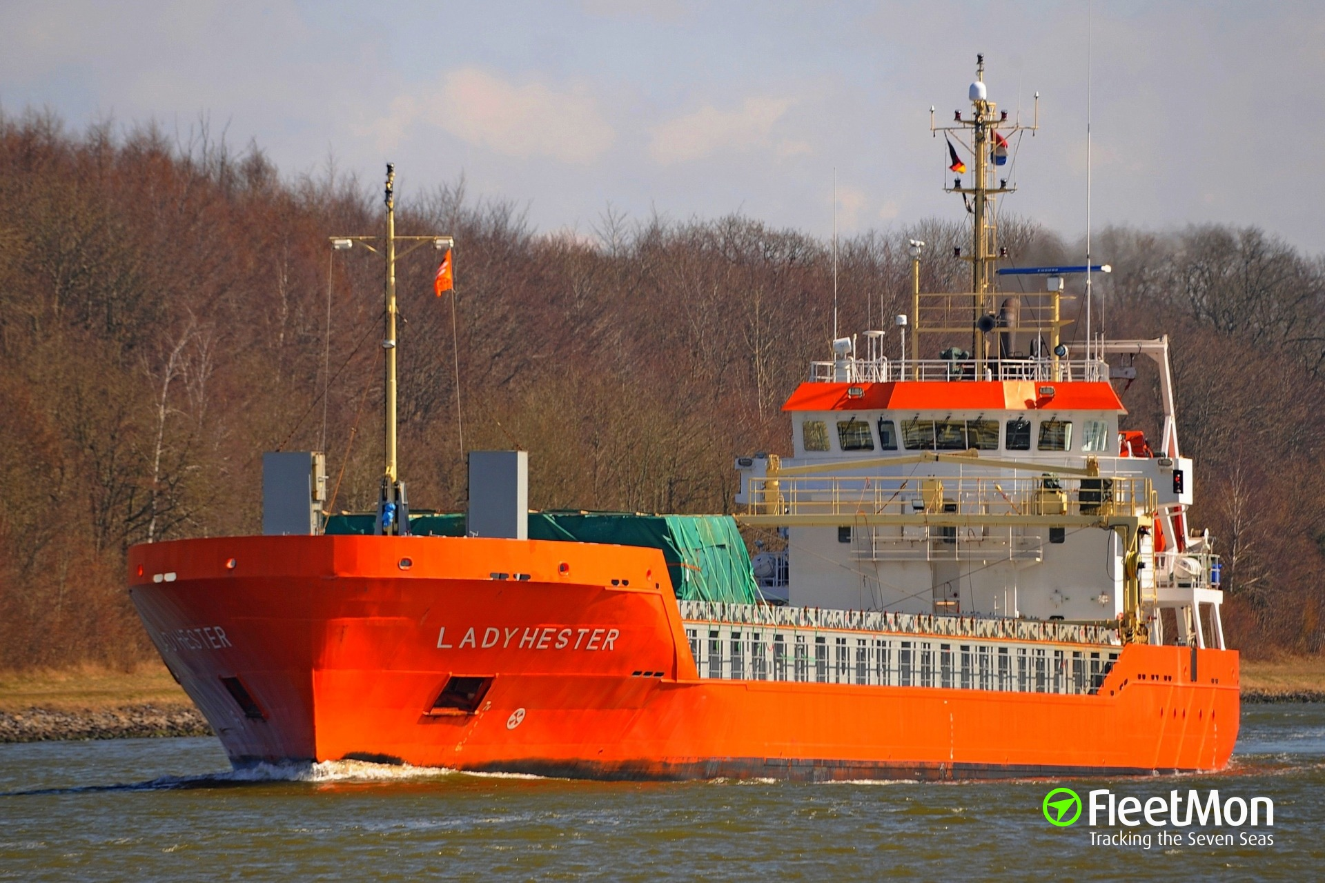 General cargo vessel Lady Hester grounding