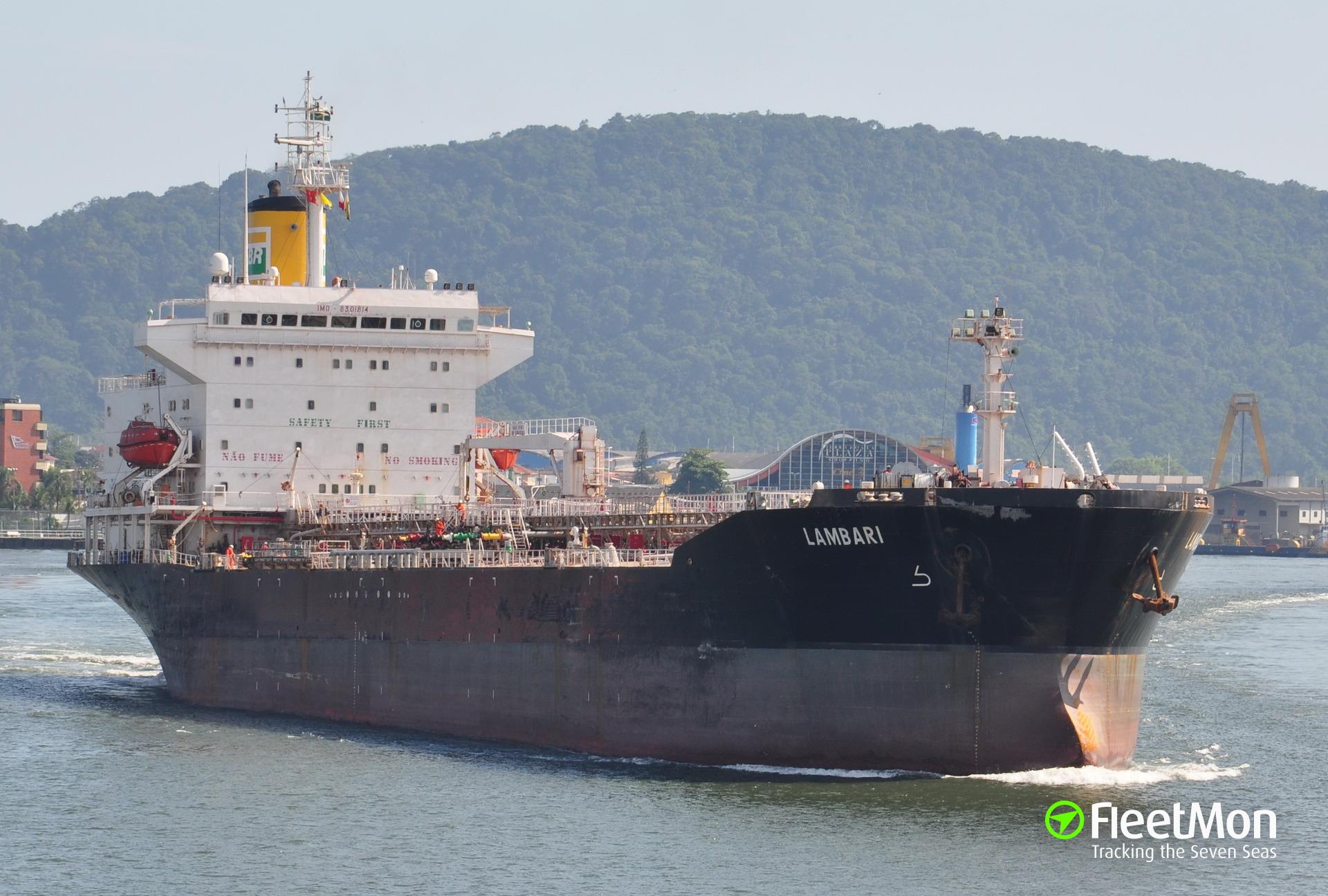 Product tanker Ambar disabled in Arabian sea