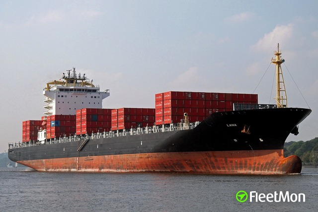 Container ship attacked, escaped