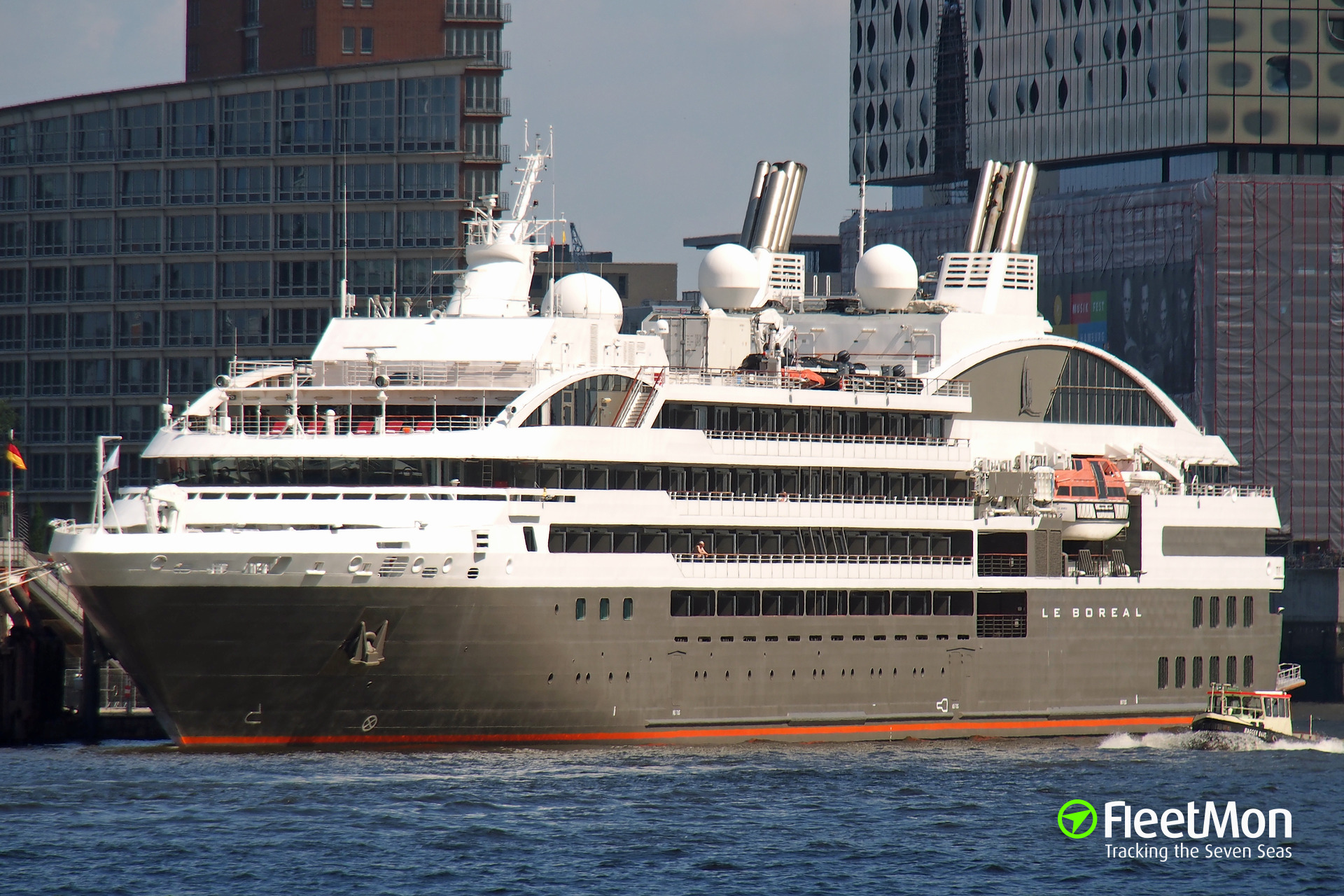 Cruise ship LE BOREAL fire in South Atlantic, passengers and part of crew evacuated