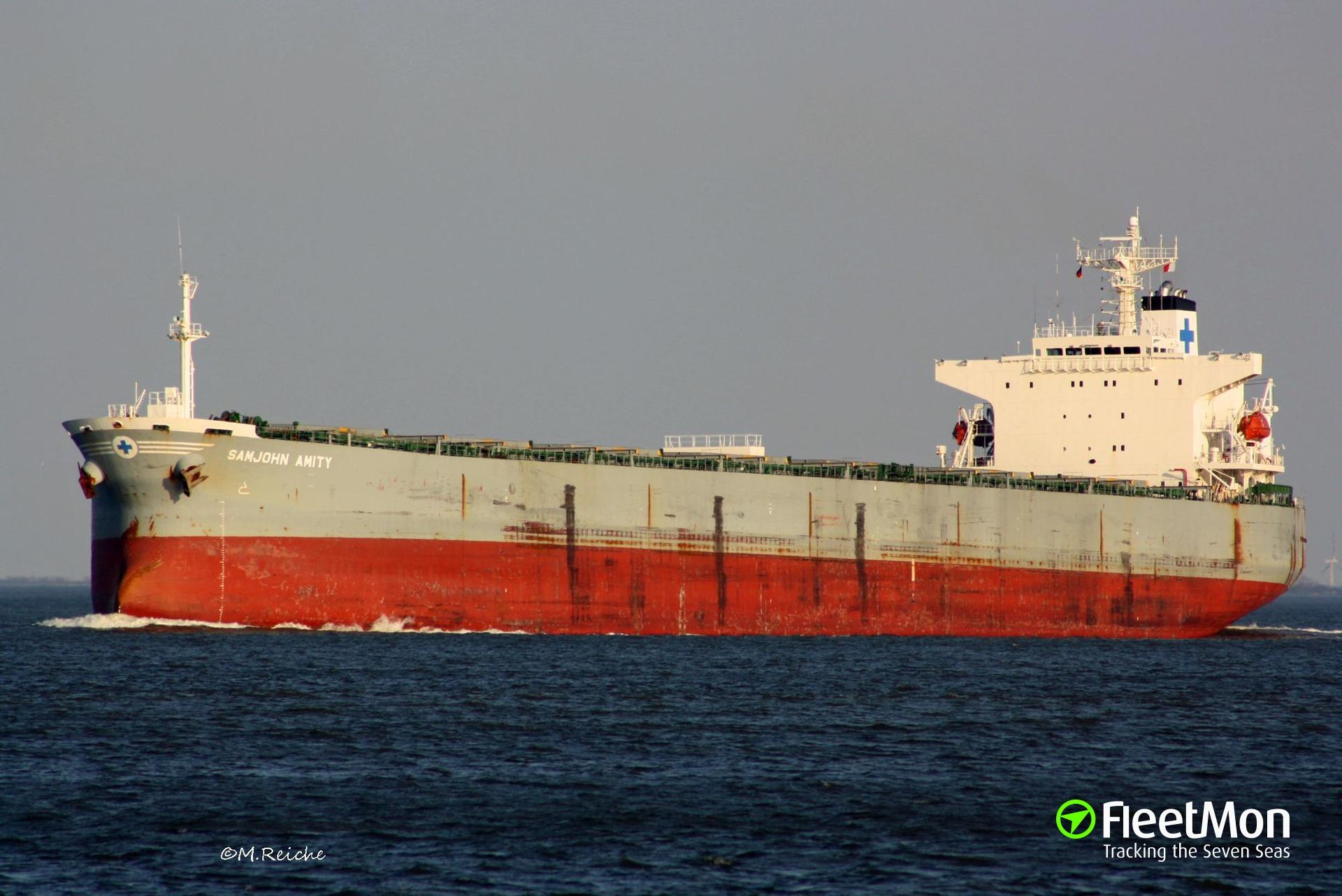 Chief Engineer of bulker SAMJOHN AMITY missing, Brazil