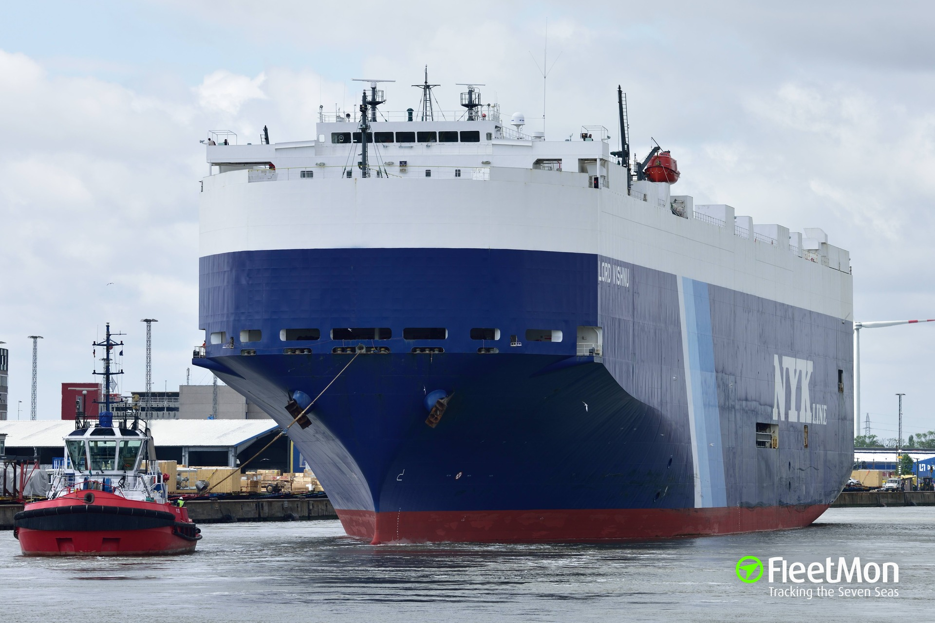 NYK car carrier damaged in collision, Singapore