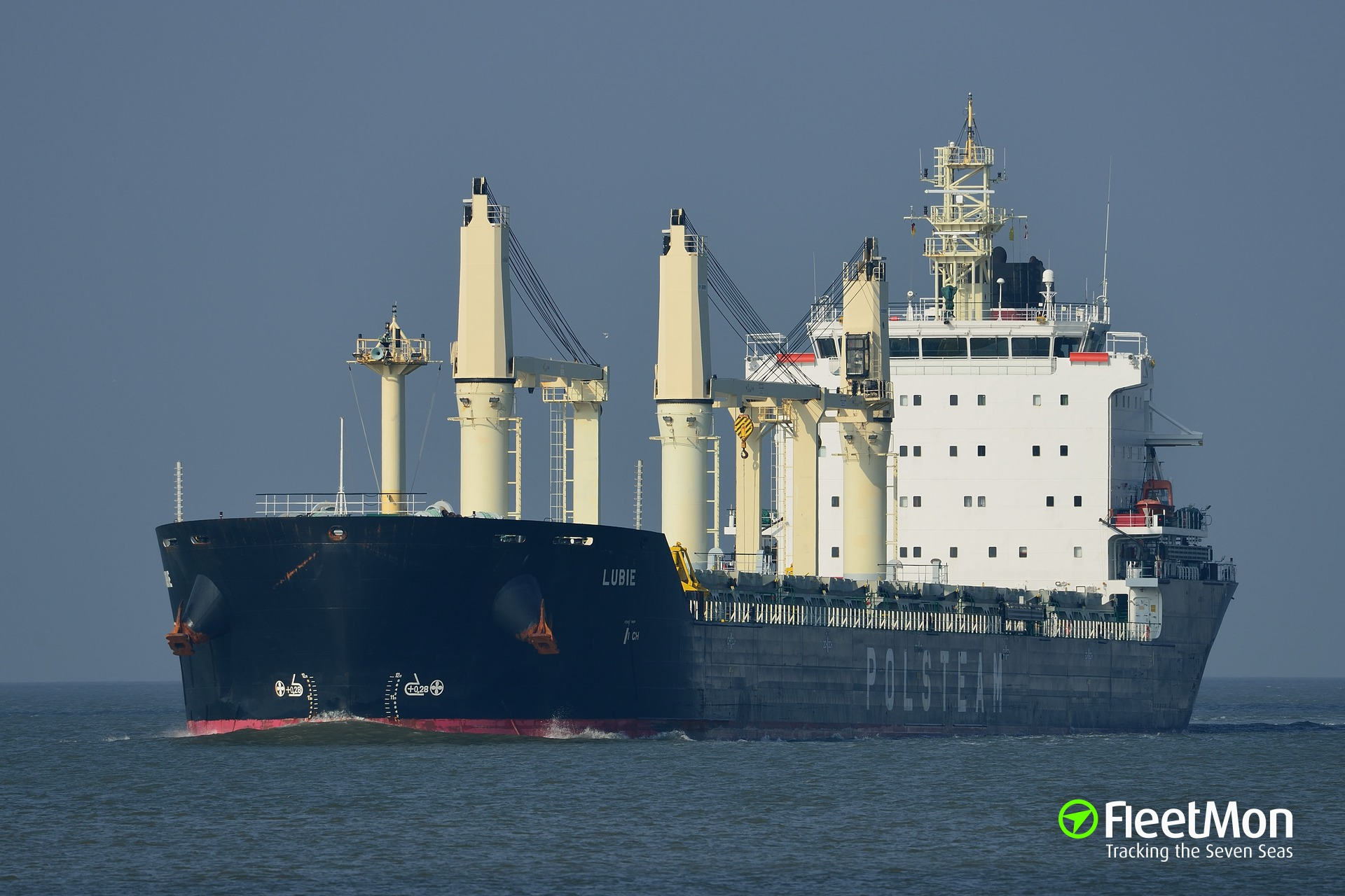 Bulk carrier LUBIE collided with sailboat, Port Huron