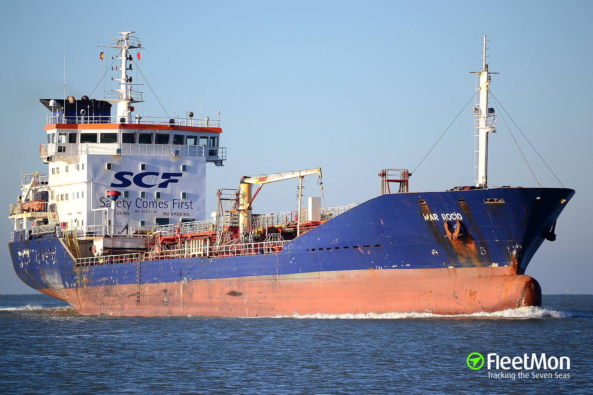 Sovcomflot chem tanker Mar Rocia detained for overloading, Brunsbuettel