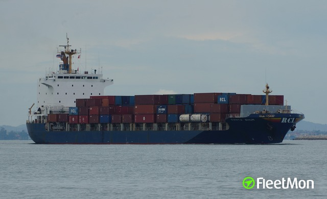 Container ship collided with berth in Colombo, both damaged