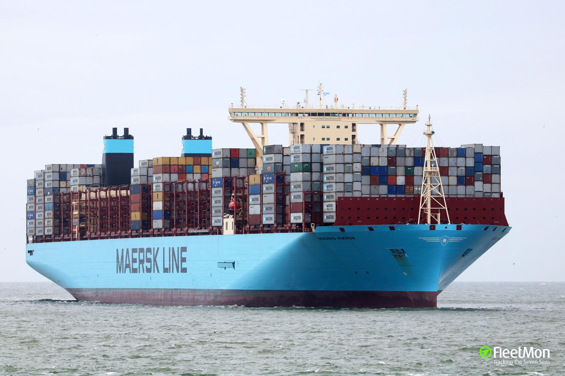 Madrid maersk porte conteneurs imo 9778791 for Porte conteneur