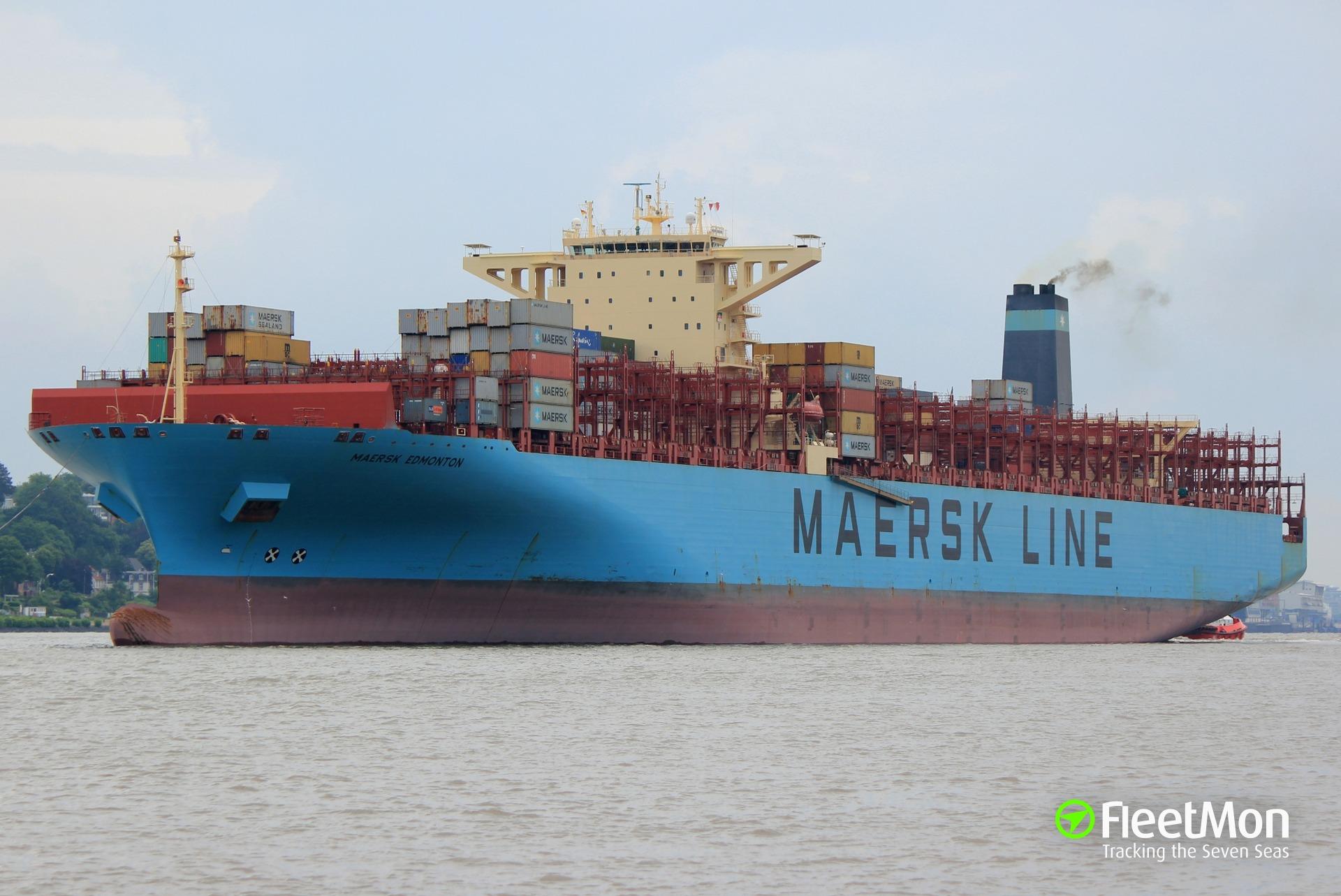 Container ship MAERSK EDMONTON grounding, Tanjung Pelepas