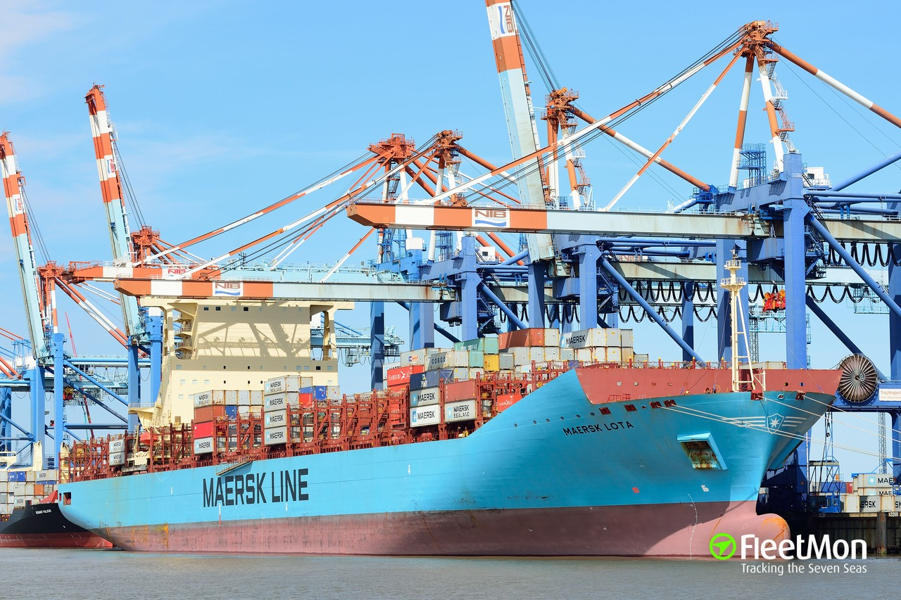 Vessel MAERSK LOTA (Container ship) IMO 9526954, MMSI 566383000