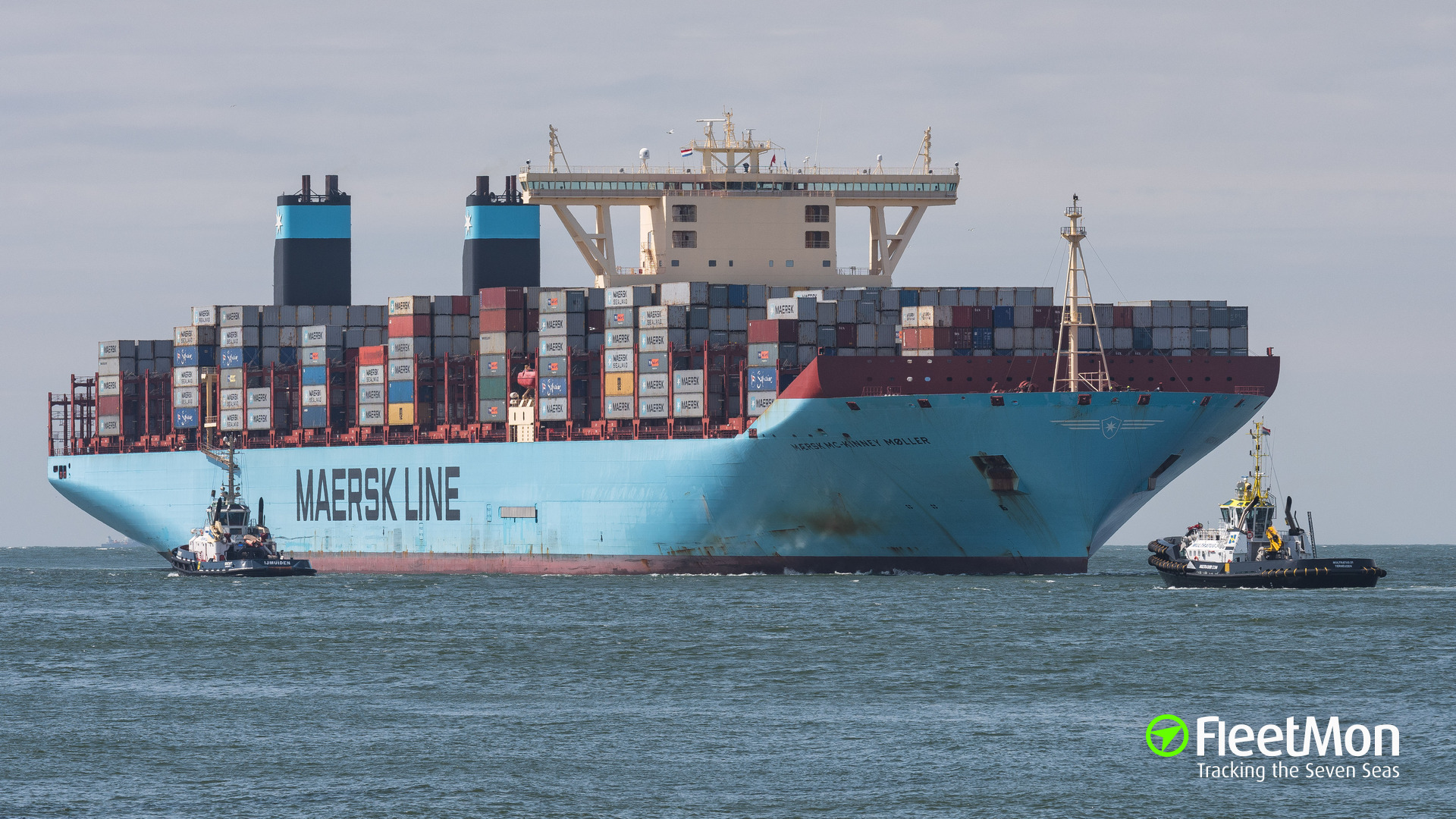 Maiden voyage of world's largest boxship Maersk Mc-Kinney Moller started in Vostochniy, Russia
