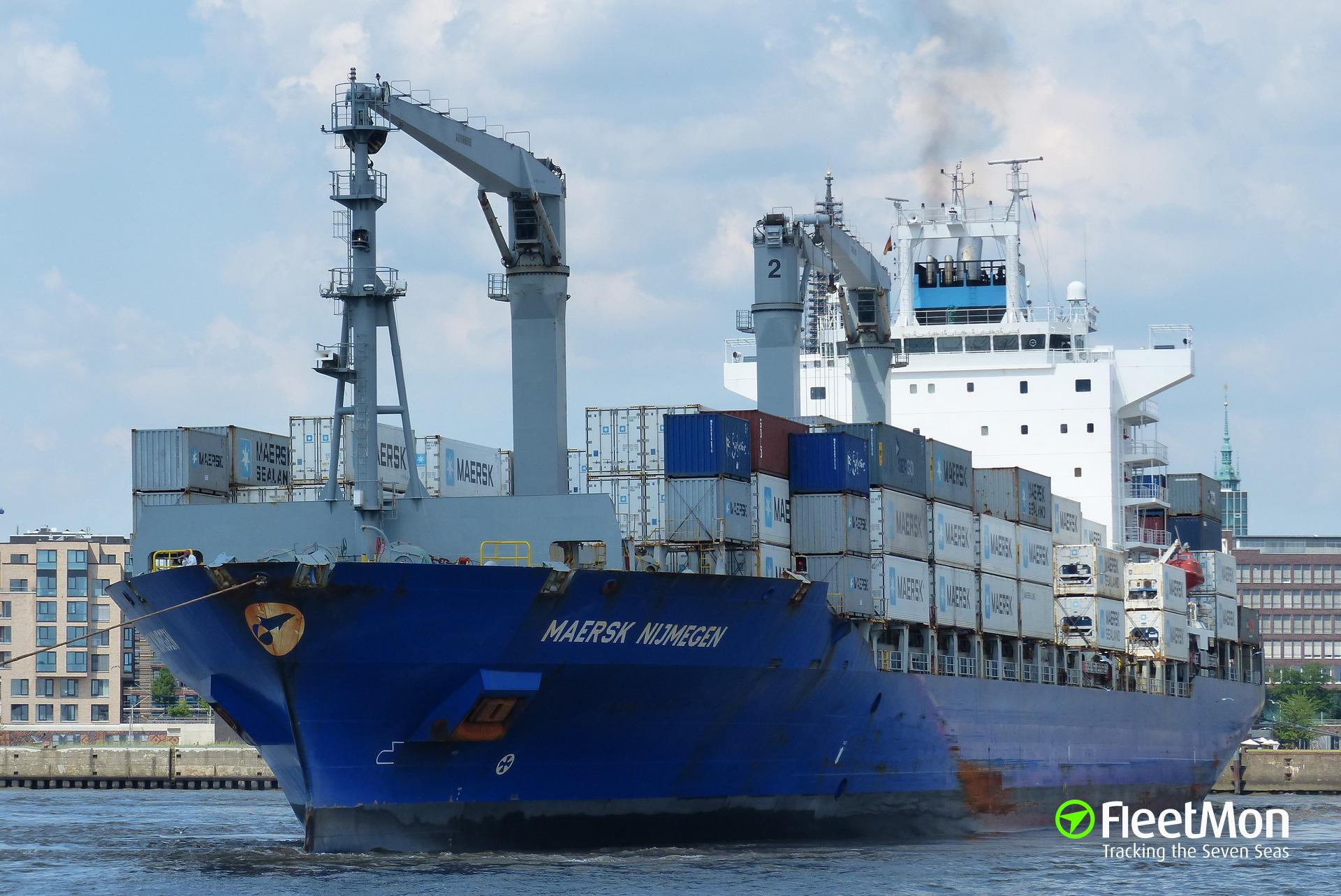 MAERSK NIJMEGEN Captain medevac, Azores