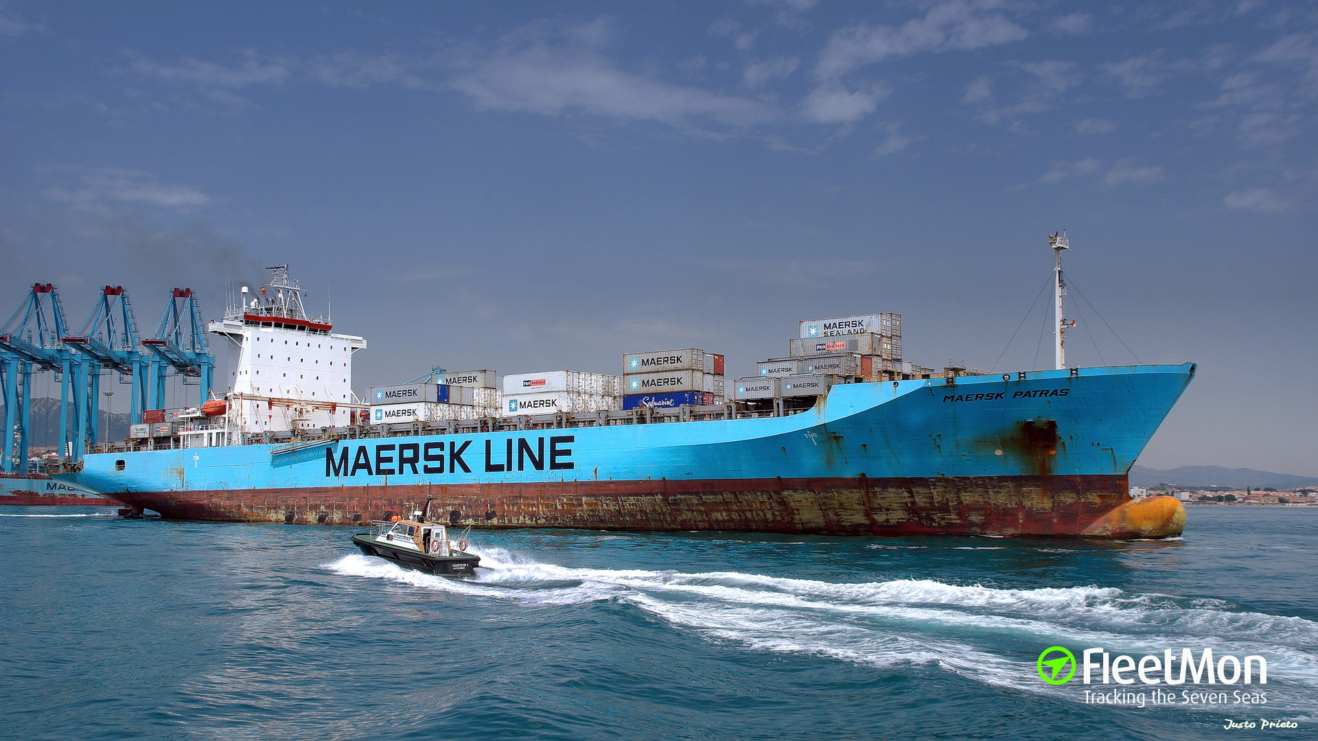 Container ship MAERSK PATRAS fire UPDATE