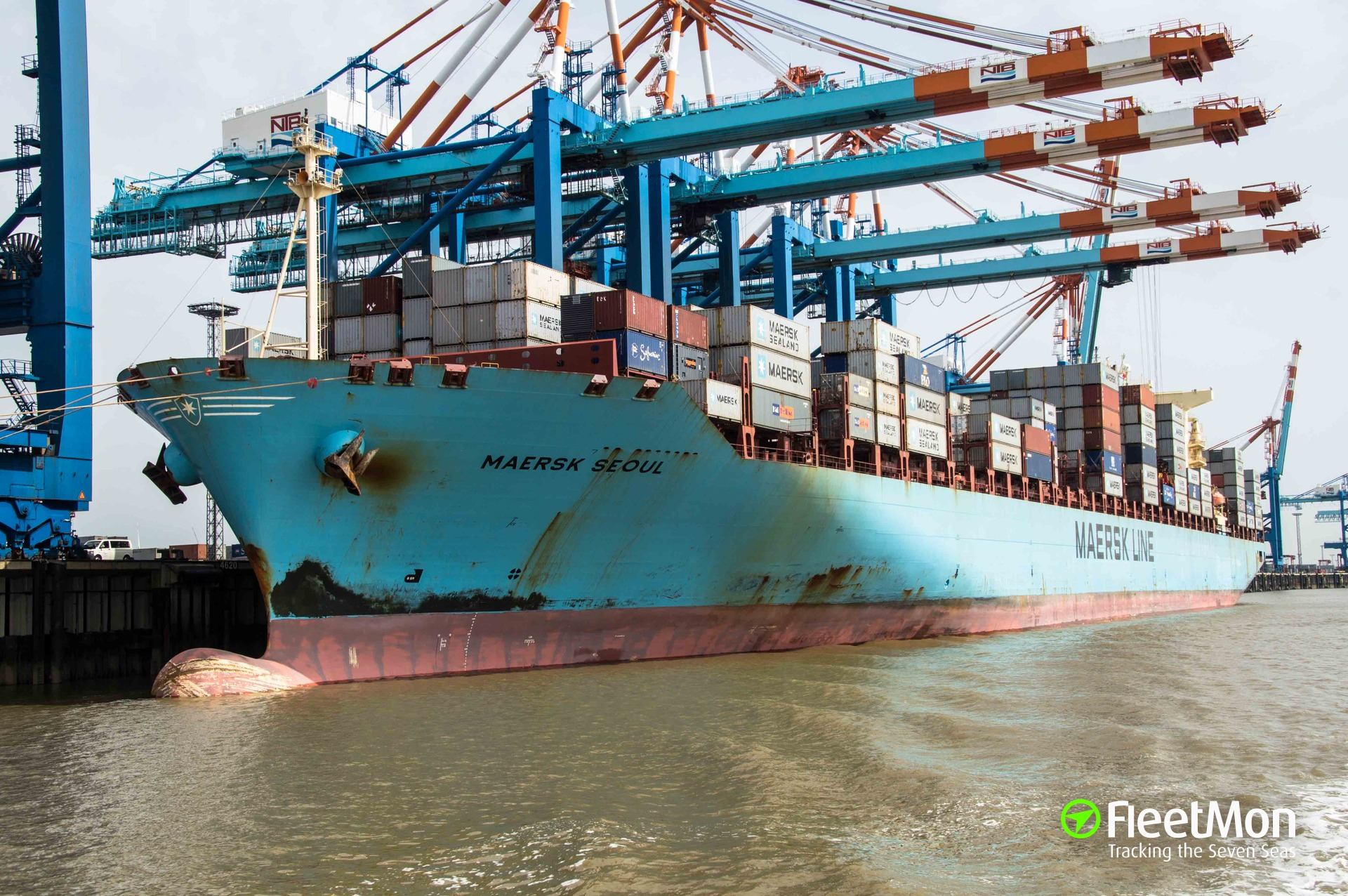 Mysterious explosion on board of boxship Maersk Seoul, forwarders remain in the dark