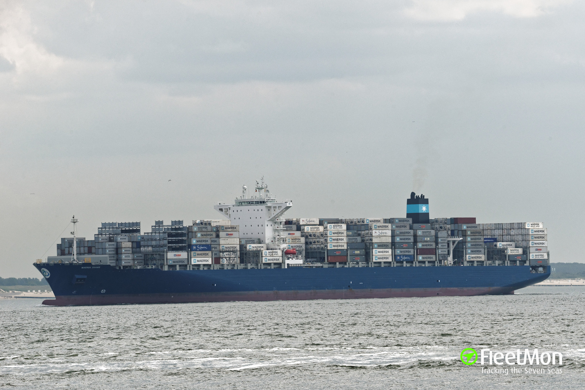 Mega container ship MAERSK SHAMS aground in Suez Canal: UPDATE