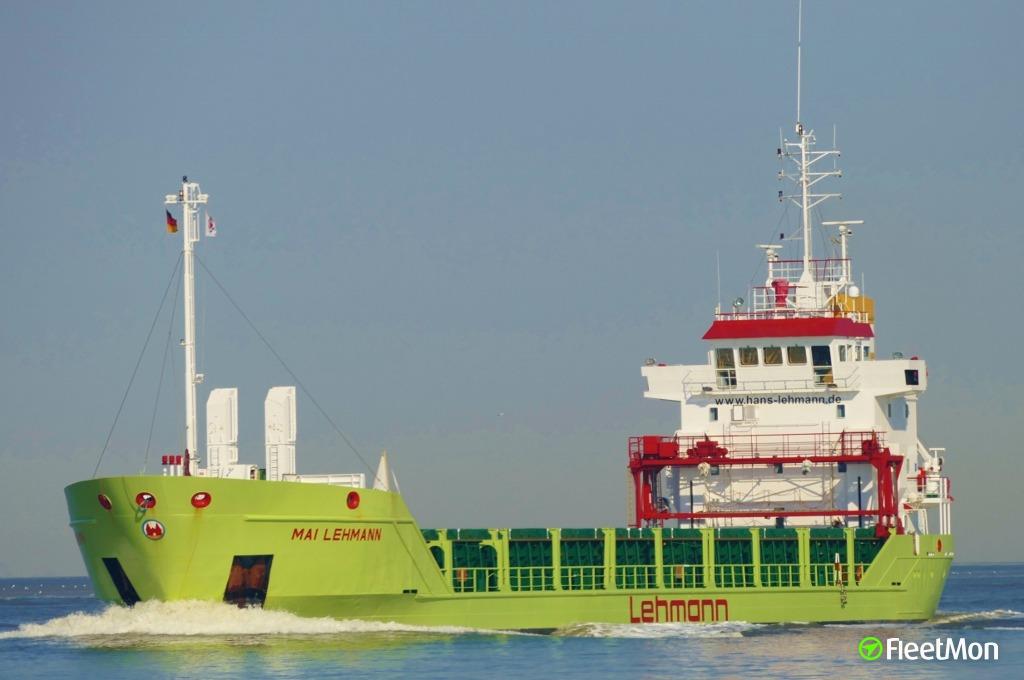 General cargo vessel Mai Lehmann, drunk master
