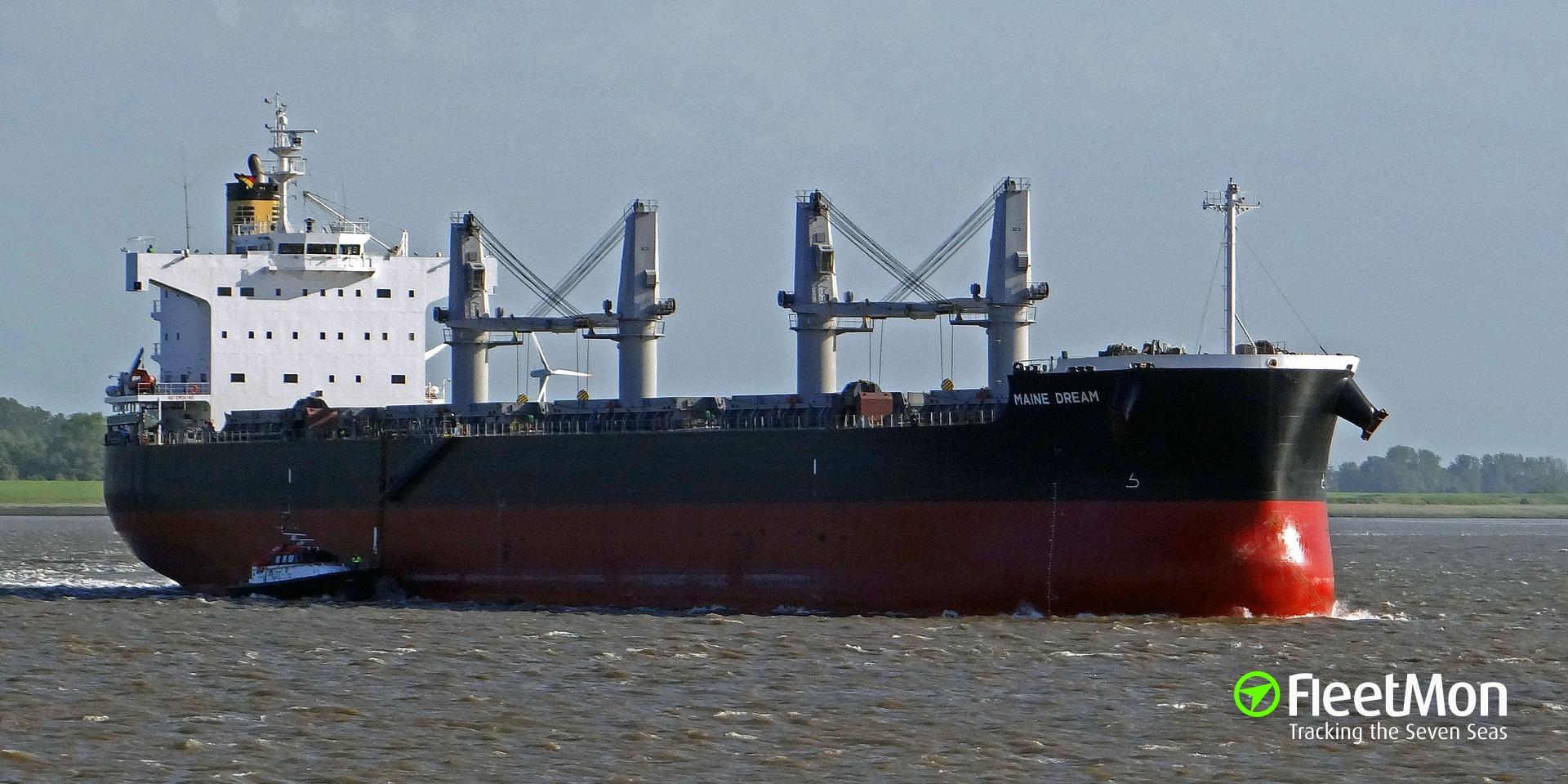 Bulk carrier Maine Dream aground, Mississippi river