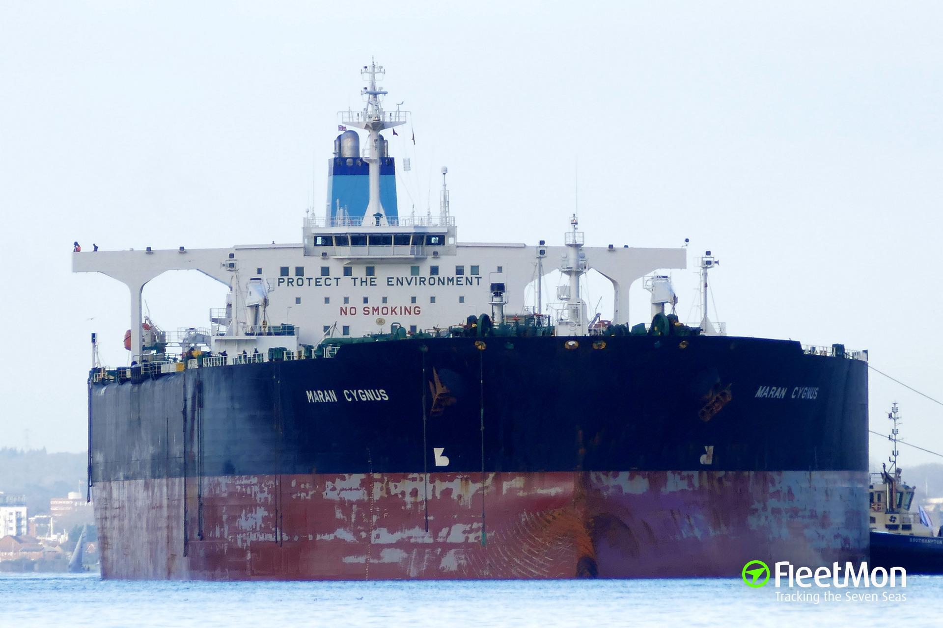 Vessel MARAN CYGNUS (Oil tanker) IMO 9227479, MMSI 239831000