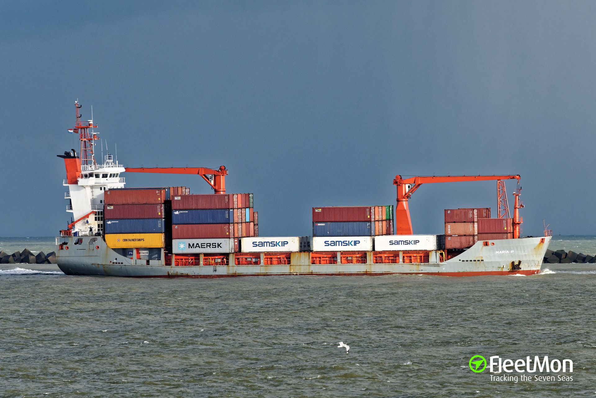 Pioneer Bay limping to Bremerhaven