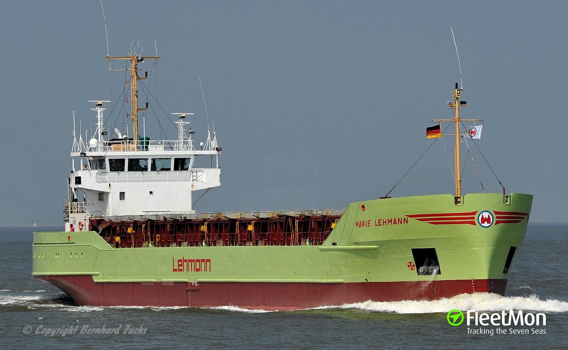 General cargo vessel MARIE LEHMANN breached in allision, Kaliningrad