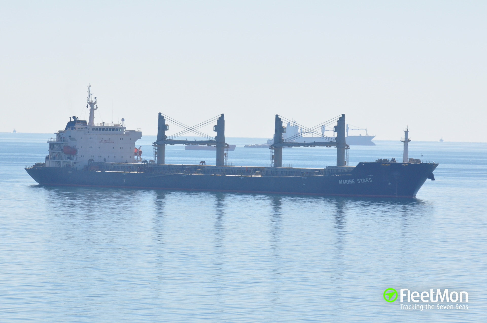 Bulk carrier Marine Stars still at anchor