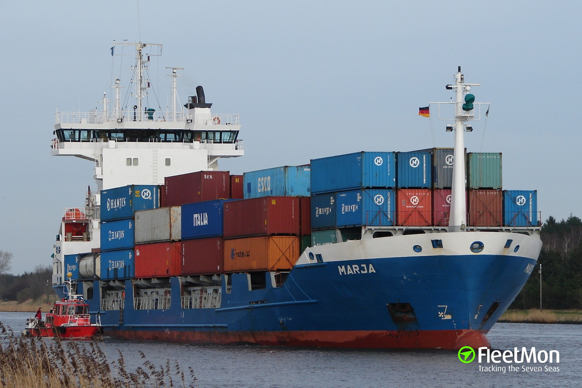 Disabled Dutch container ship towed to Rotterdam