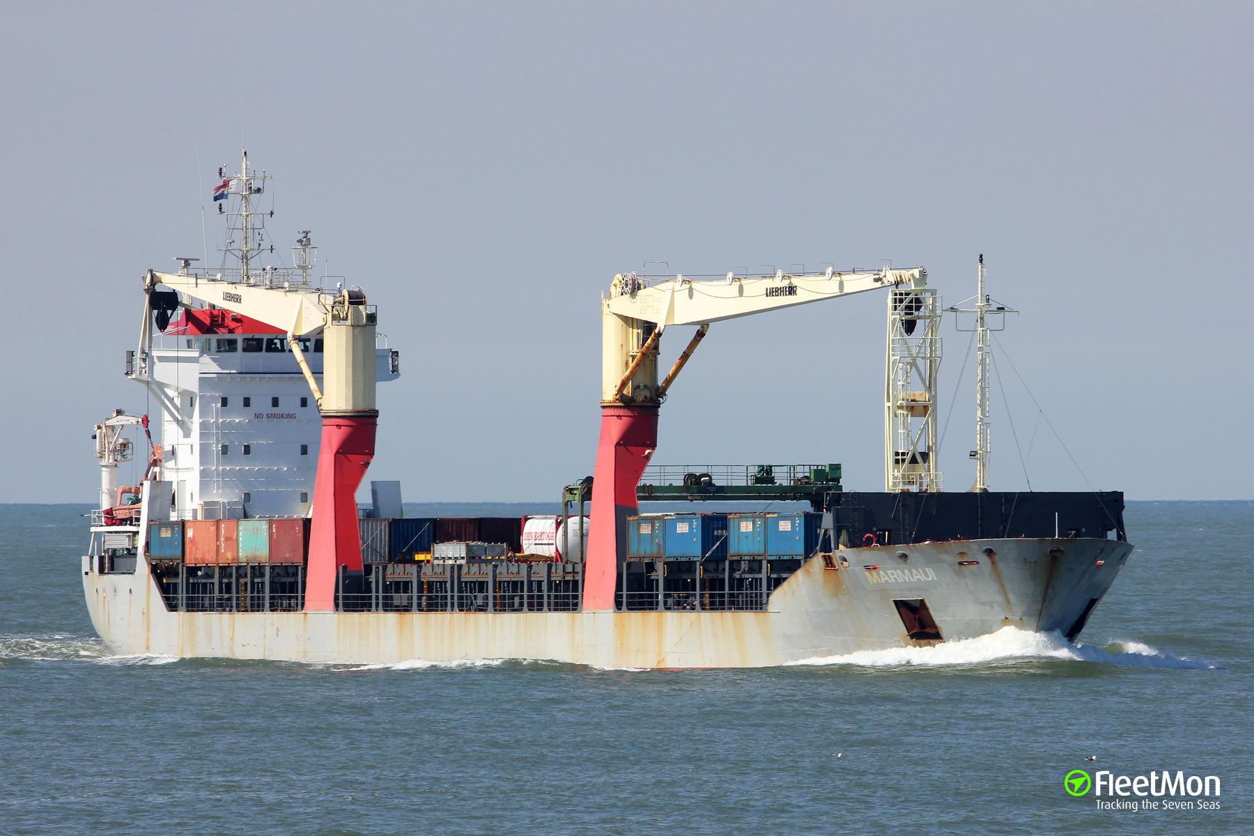 MARMAUI lost 6 containers near Fair Island