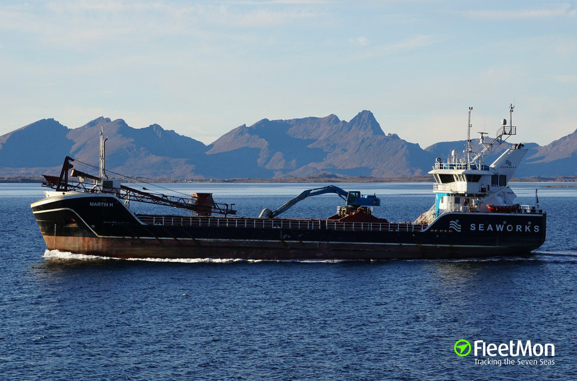 General cargo vessel Martin H towed to safety, Norway