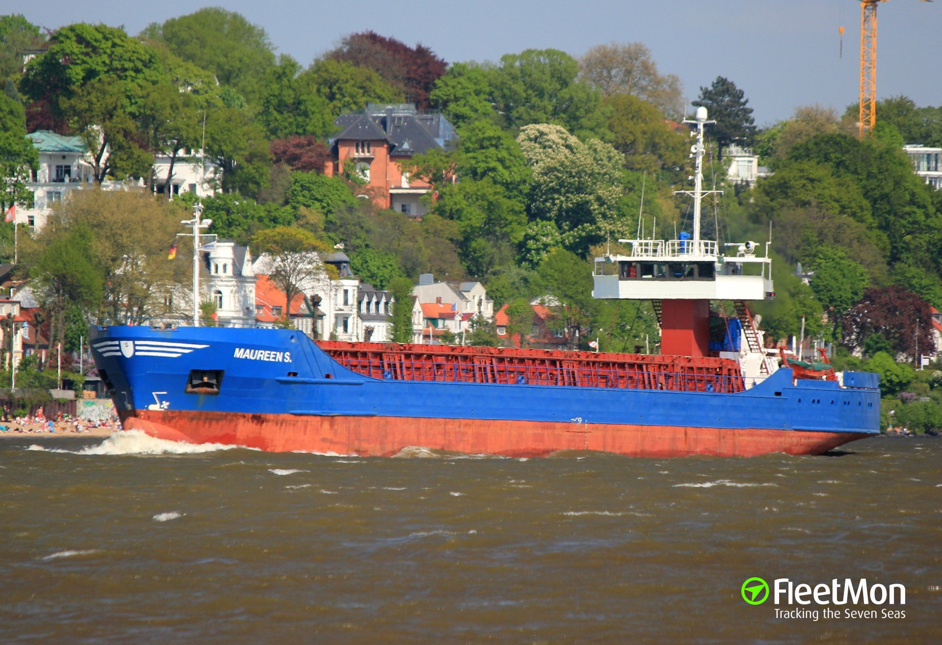 Freighters Katharina Siemer and Angon collided on Brunsbuettel anchorage