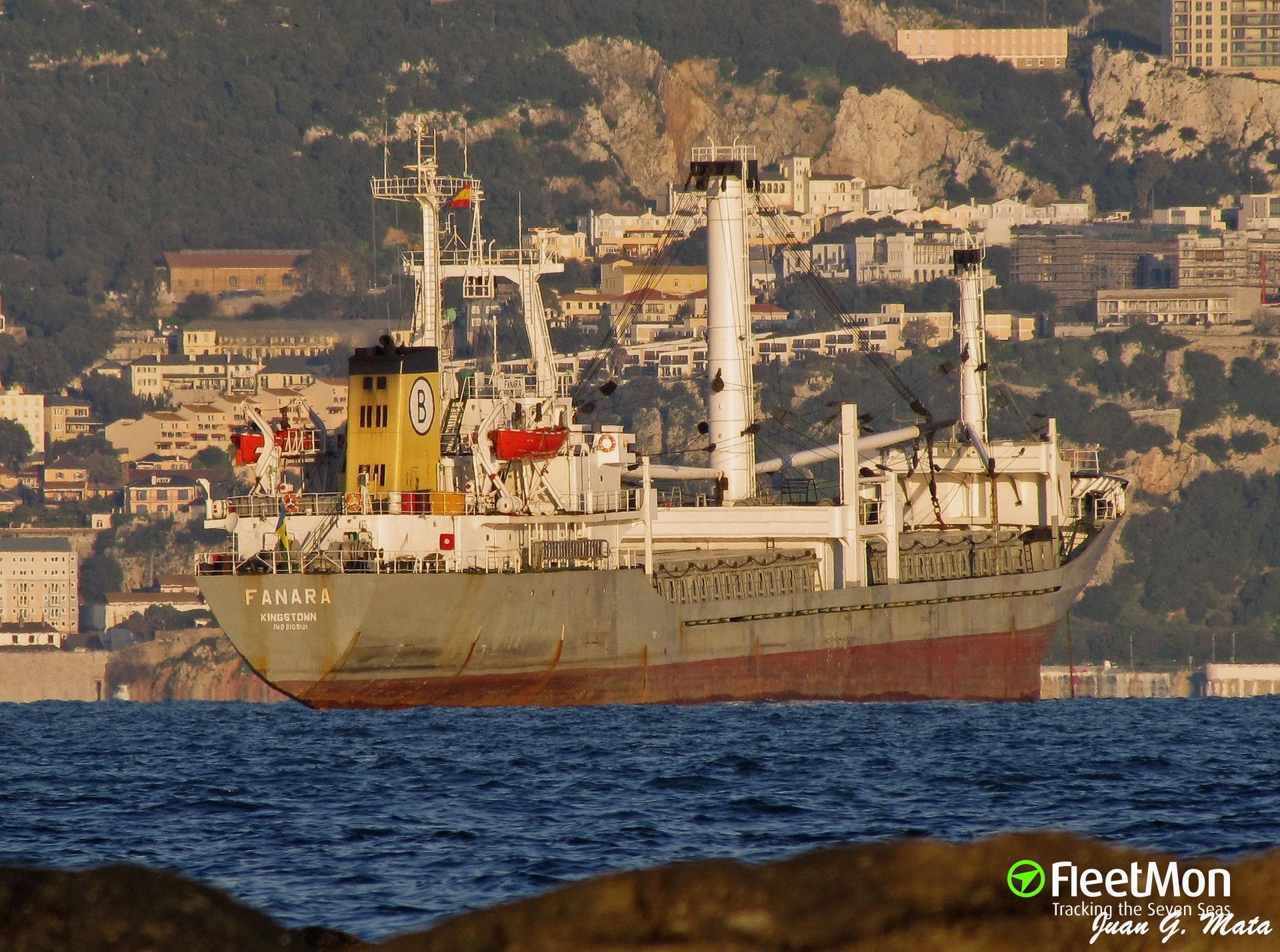   Bulgarian freighter failed to transit Bosphorus