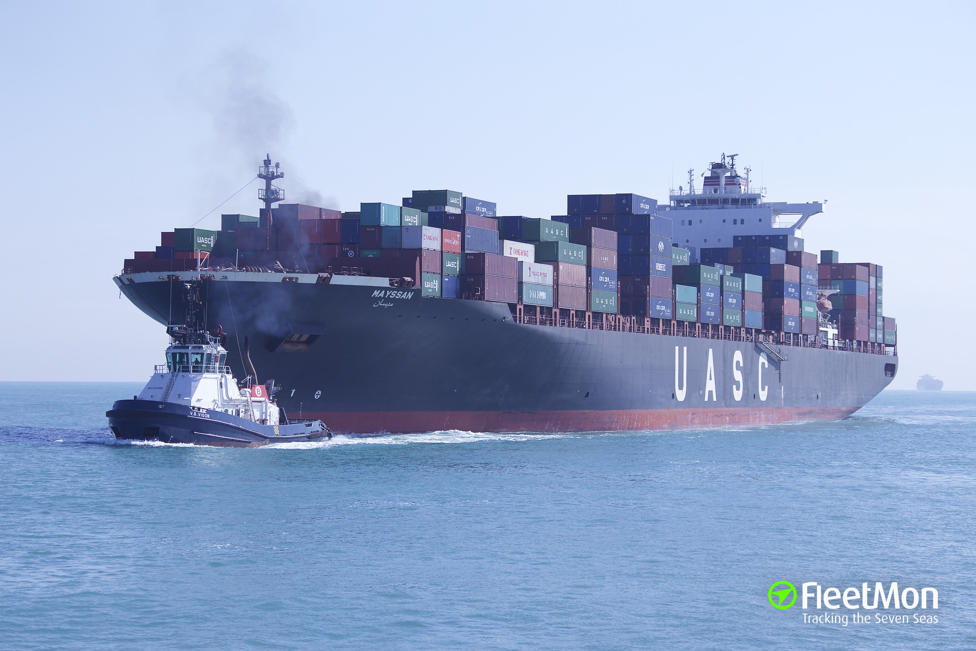 Container ship MAYSSAN troubled in Strait of Hormuz
