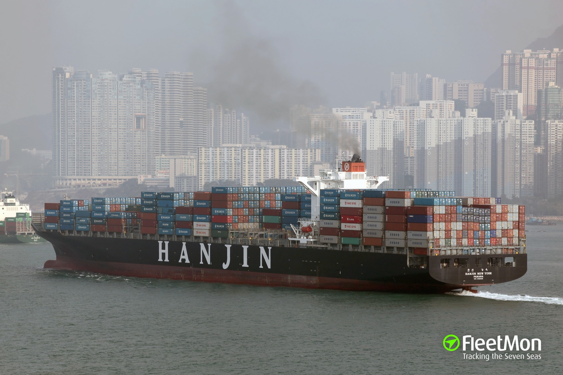 Man overboard from boxship Hanjin New York